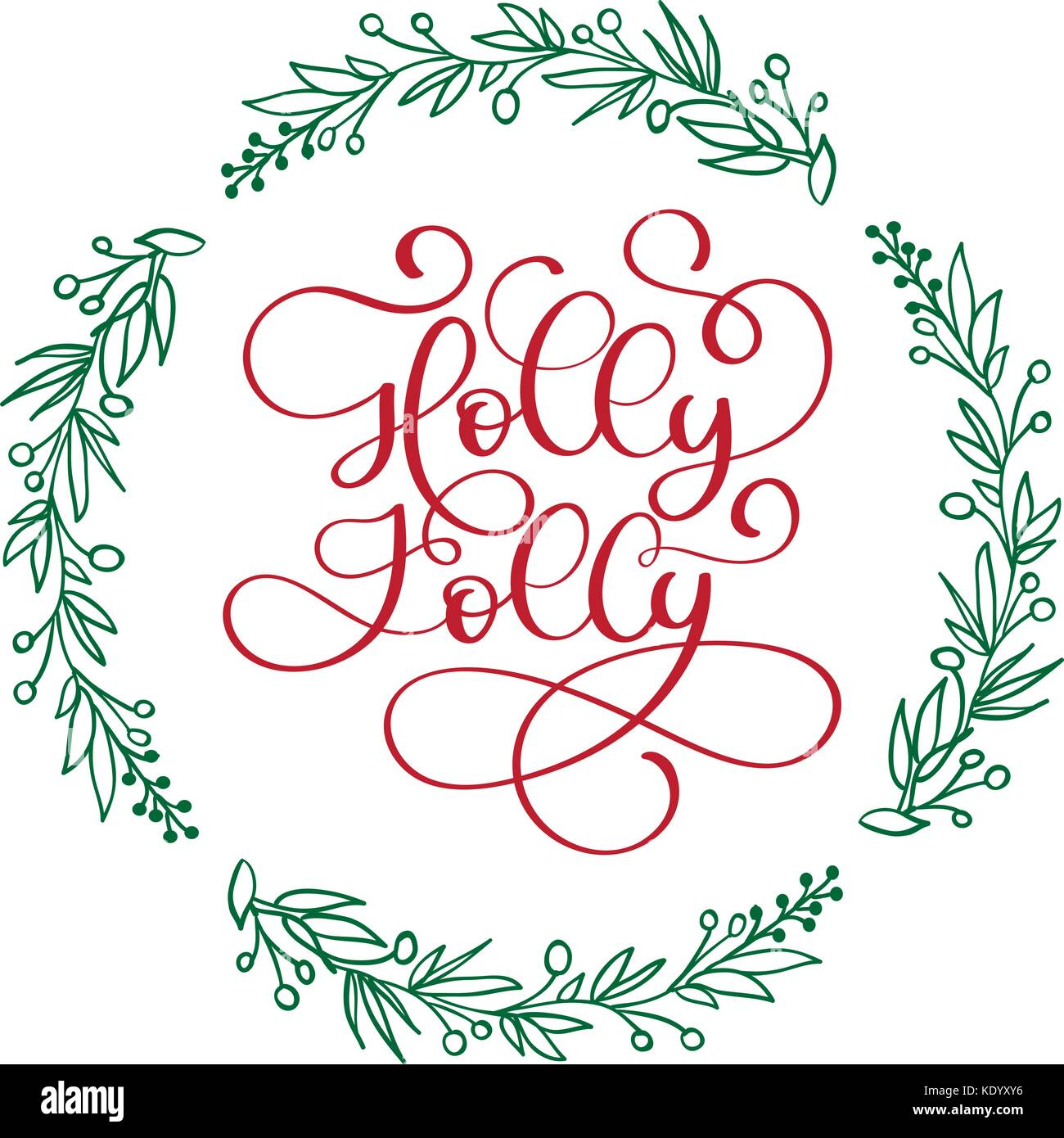 Have a Holly Jolly Christmas modern calligraphy lettering. Vector ...