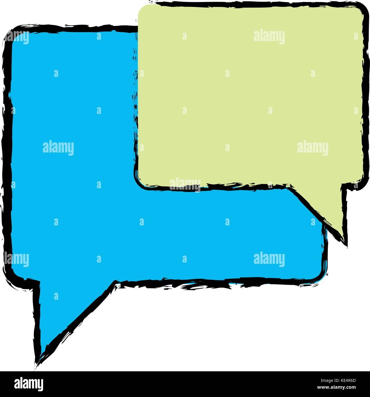 color chat bubbles notes text message stock vector art