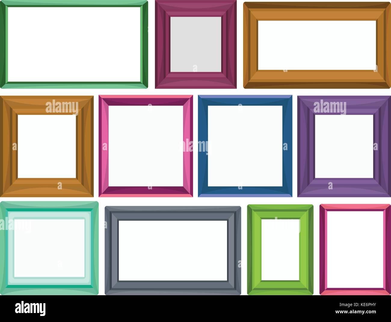 Different sizes for photo frames stock vector art illustration different sizes for photo frames jeuxipadfo Choice Image