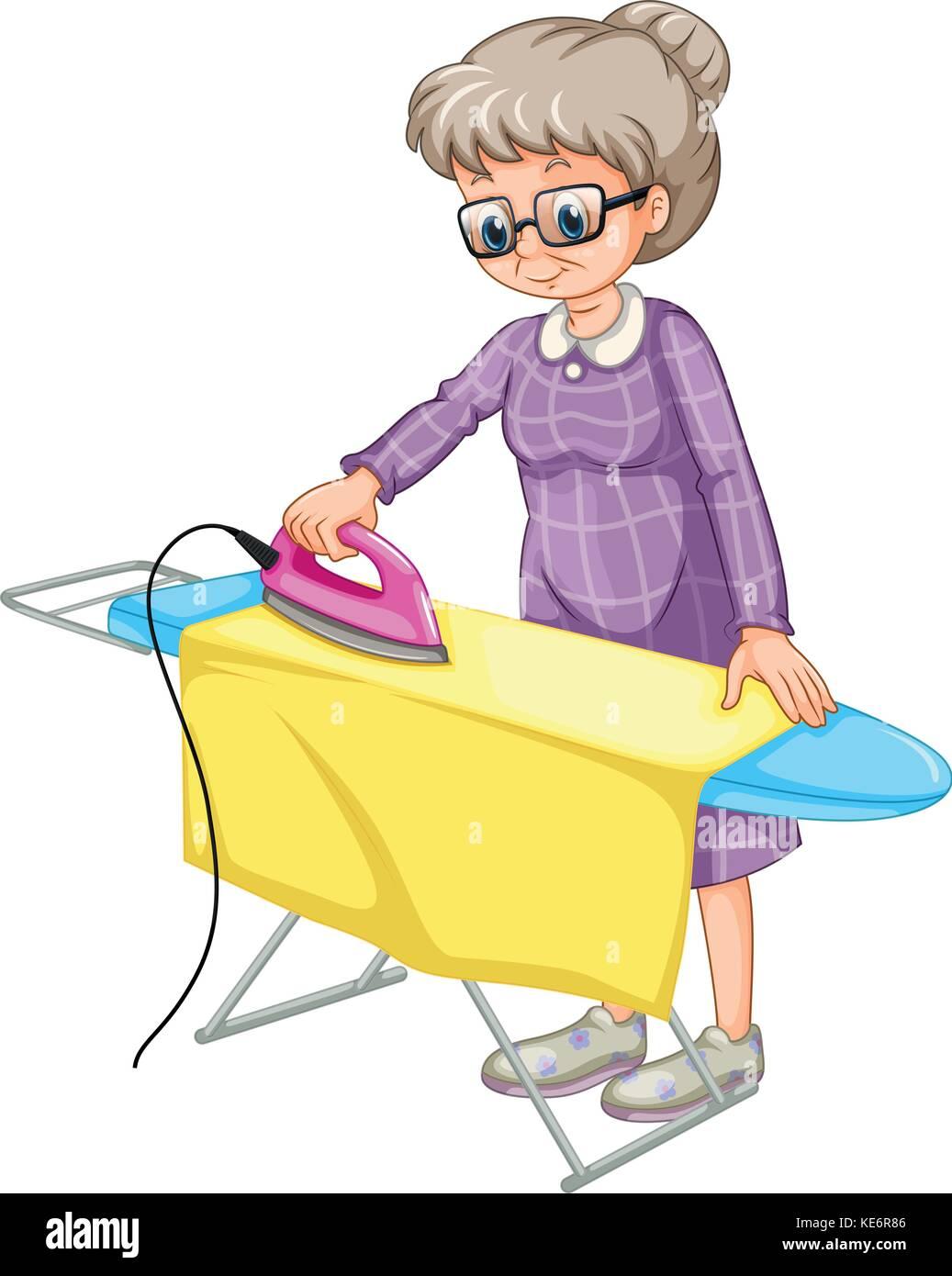 Cartoon Clothes Iron ~ Iron woman cartoon stock photos