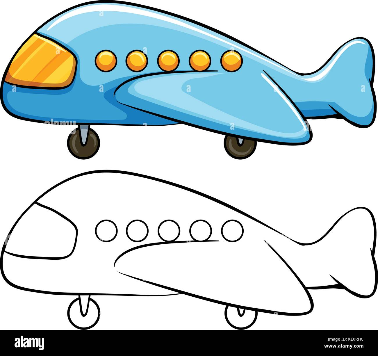 toy airplane with simple drawing