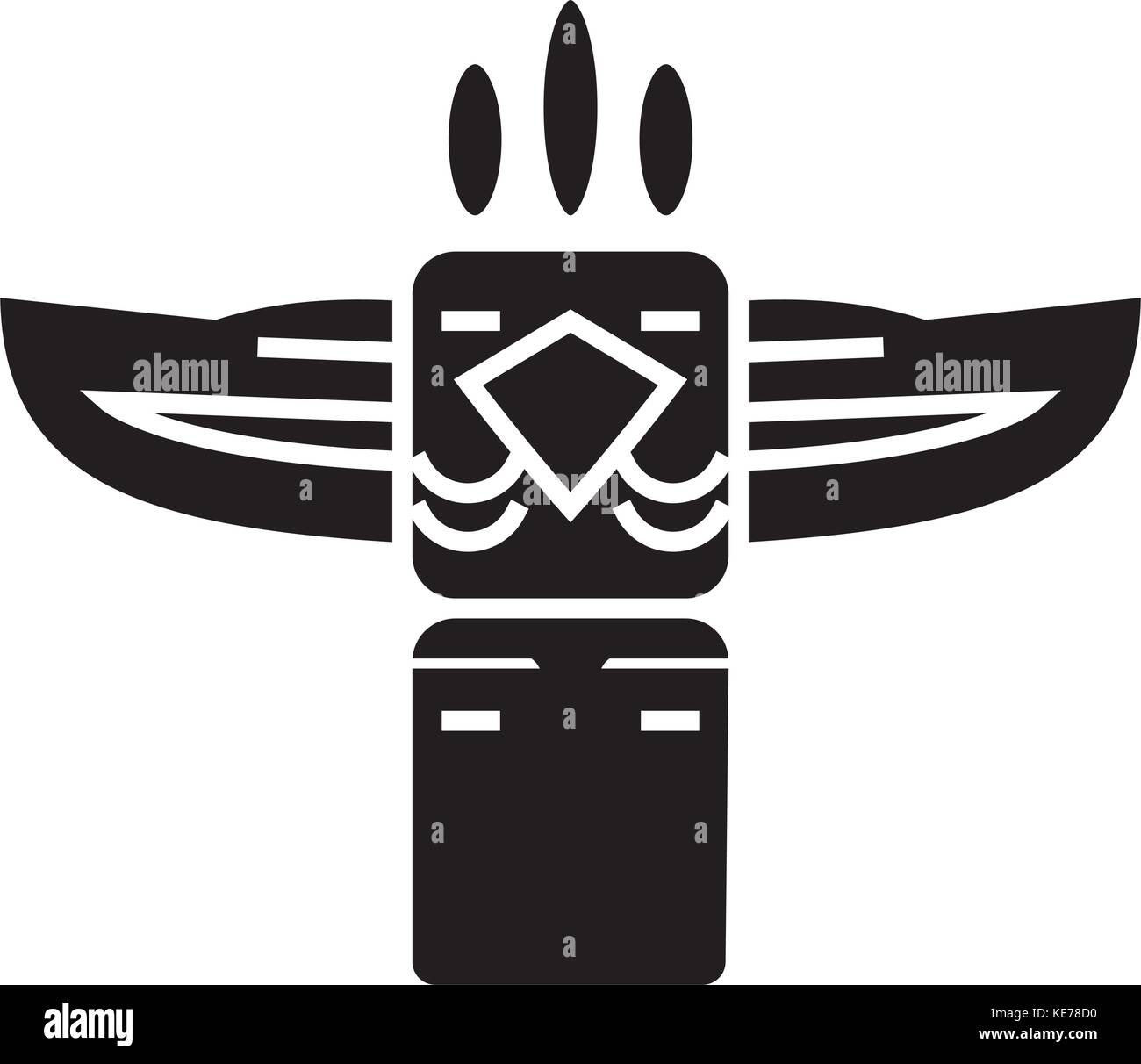 Native american indian mask stock photos native american indian totem native american icon vector illustration black sign on isolated background stock buycottarizona
