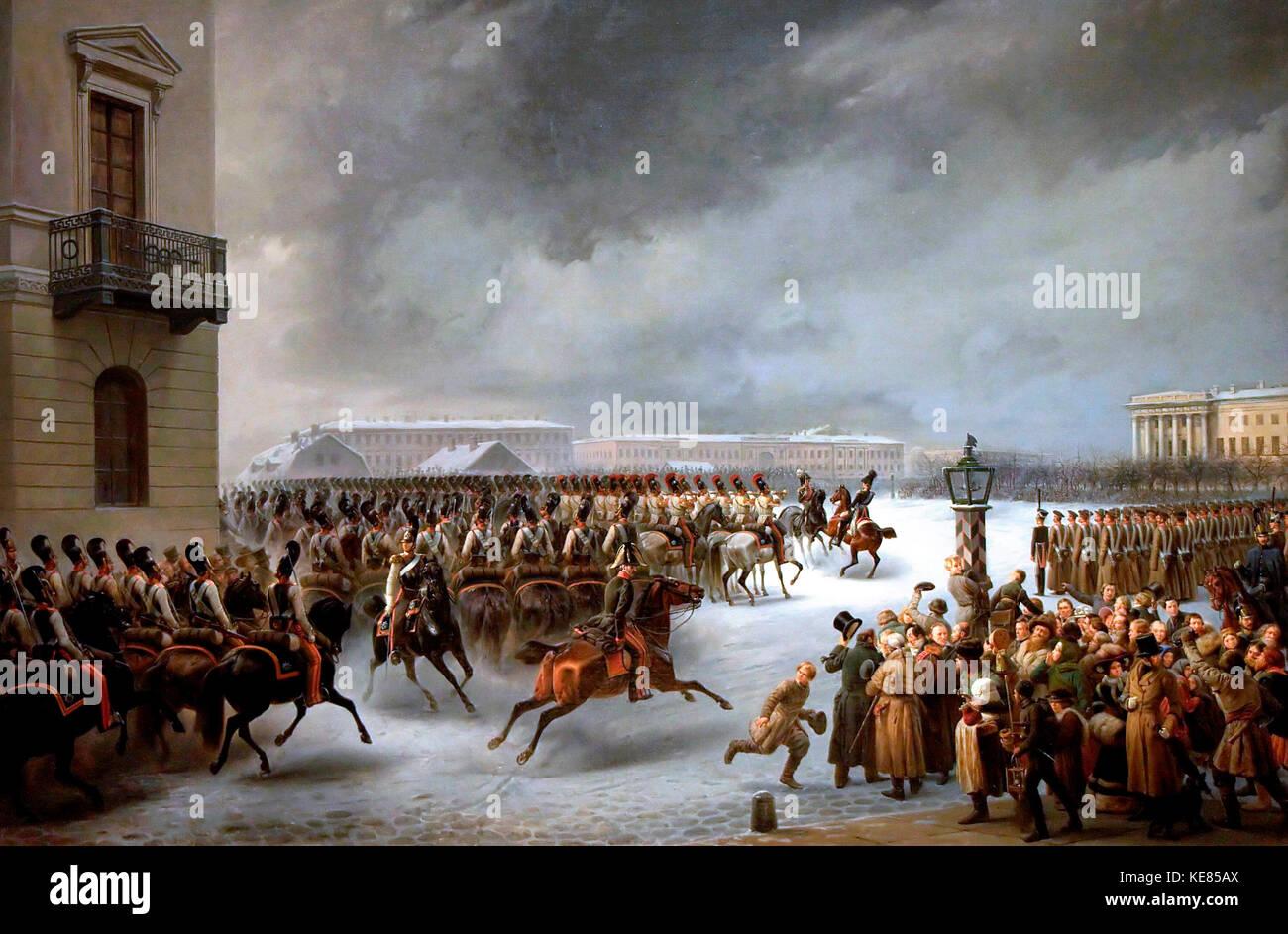 Decembrist uprising on Senate Square in 1825 55