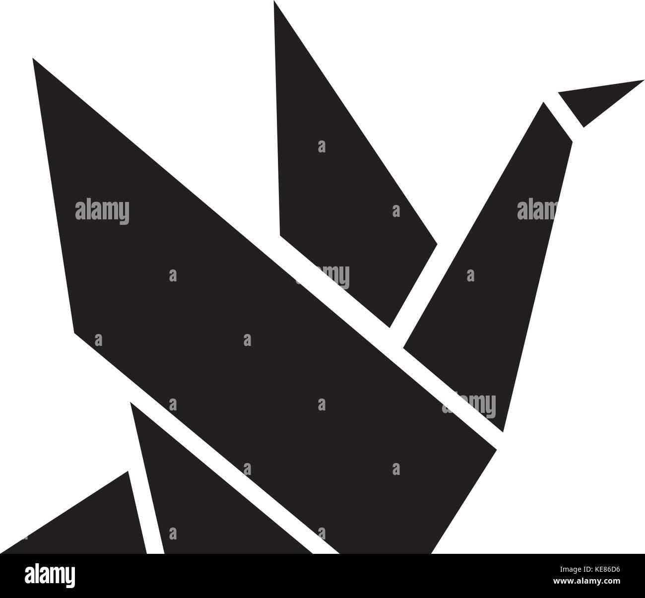 Origami icon vector illustration black sign on isolated origami icon vector illustration black sign on isolated background jeuxipadfo Gallery
