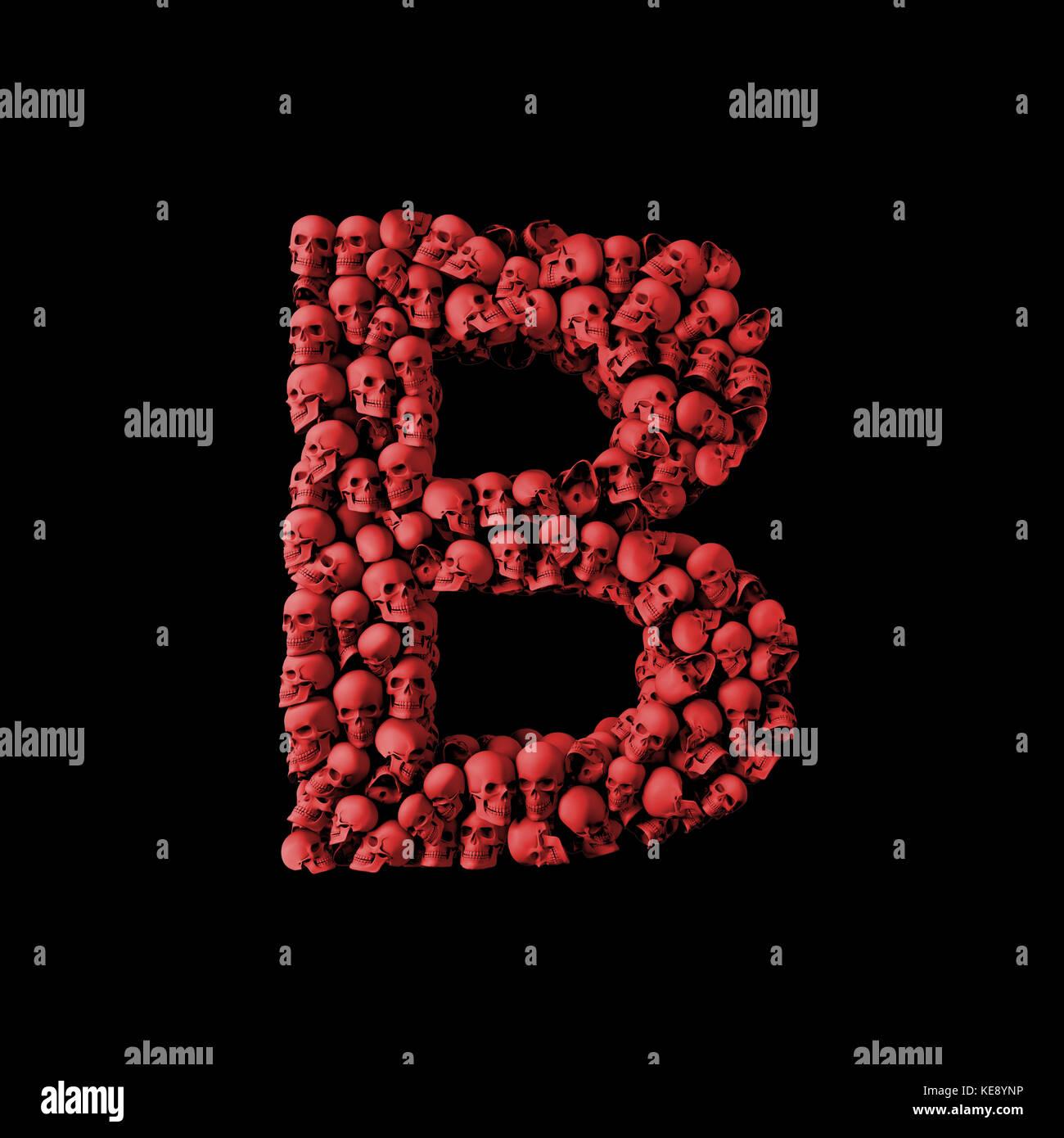 a8356b4c5 ... Letter B Red Skull Font Type Made From Skulls 3D Rendering Stock ·  Logotipo Da Letra B Ilustração Do Vetor Ilustração De Tipo 22214520 ...