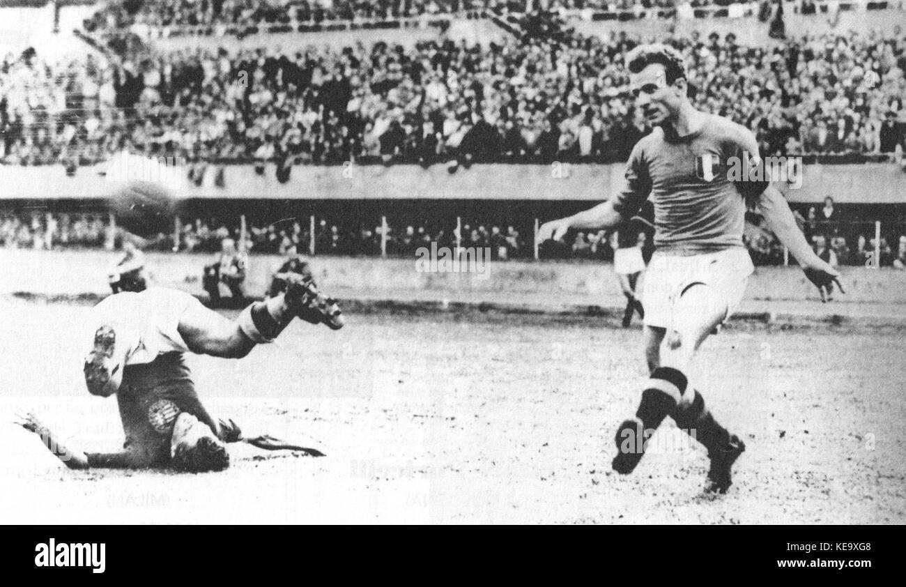 Italy v Hungary Turin 1947 Valentino Mazzola Stock Royalty