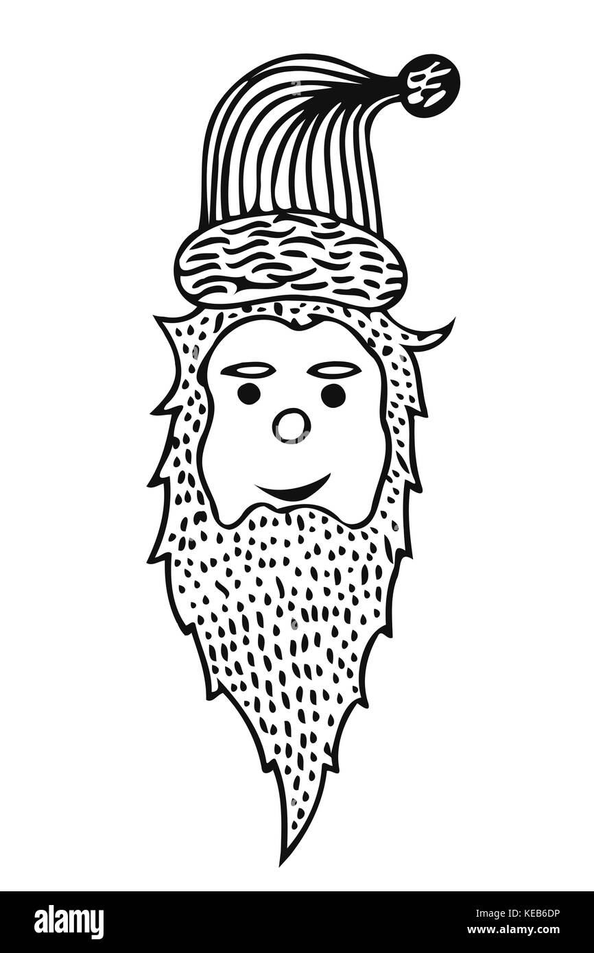 santa claus head it can be used for printing on t shirts or coloring books