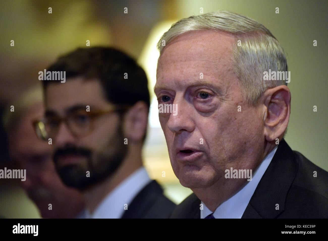 U S Defense Secretary Jim Mattis Stock s & U S Defense