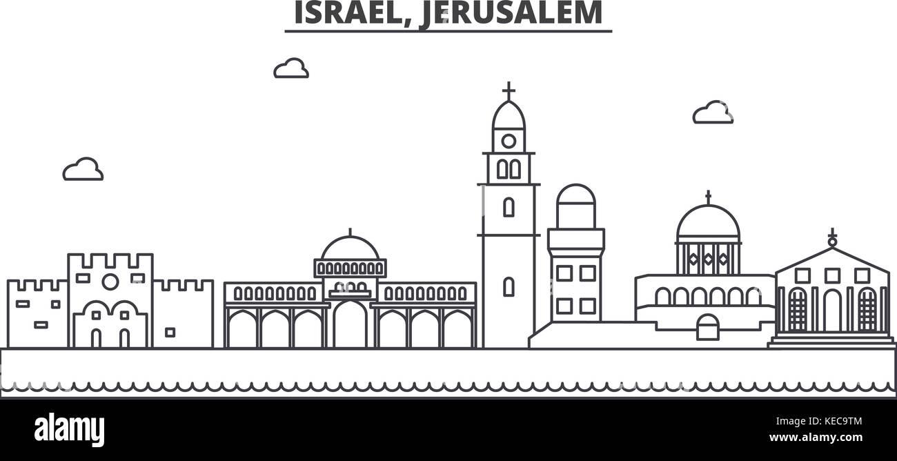 Line Art Jerusalem : Jerusalem illustration landscape stock photos