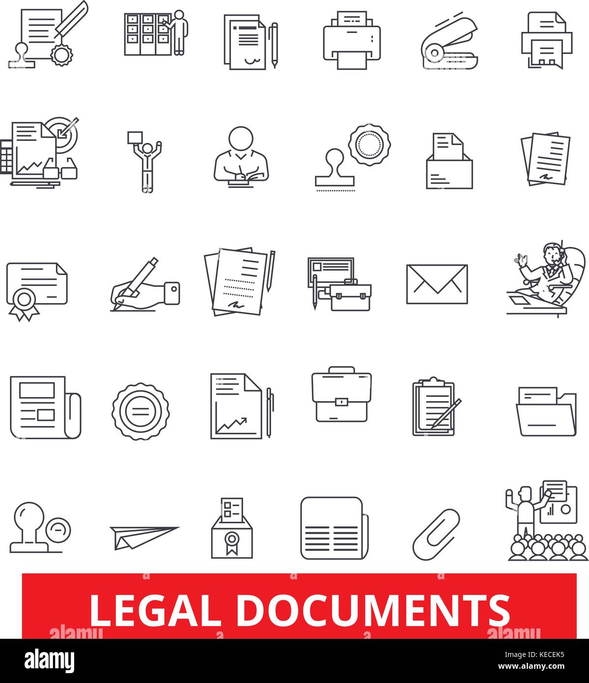 legal documents archive deed record papers legal files stock