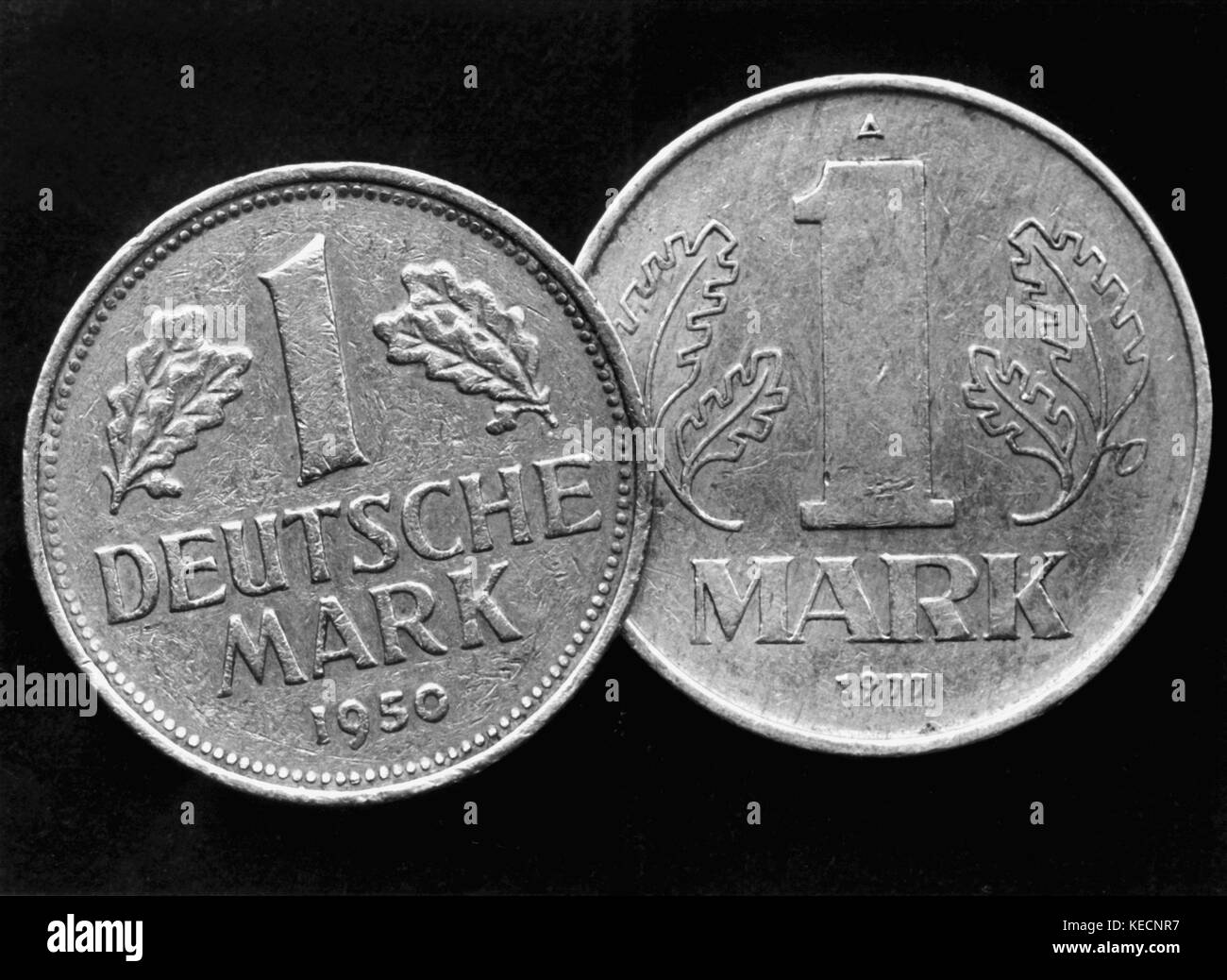 East german money stock photos east german money stock images two currencies front side of west german mark on the left and east buycottarizona