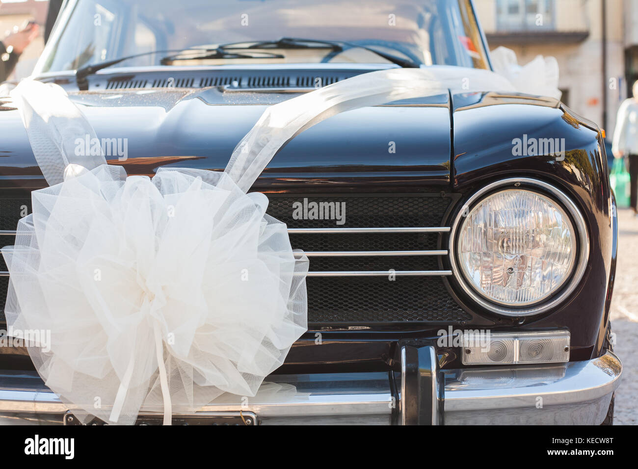 Vintage Luxury Car Ready For Wedding Day With Clean Body And A