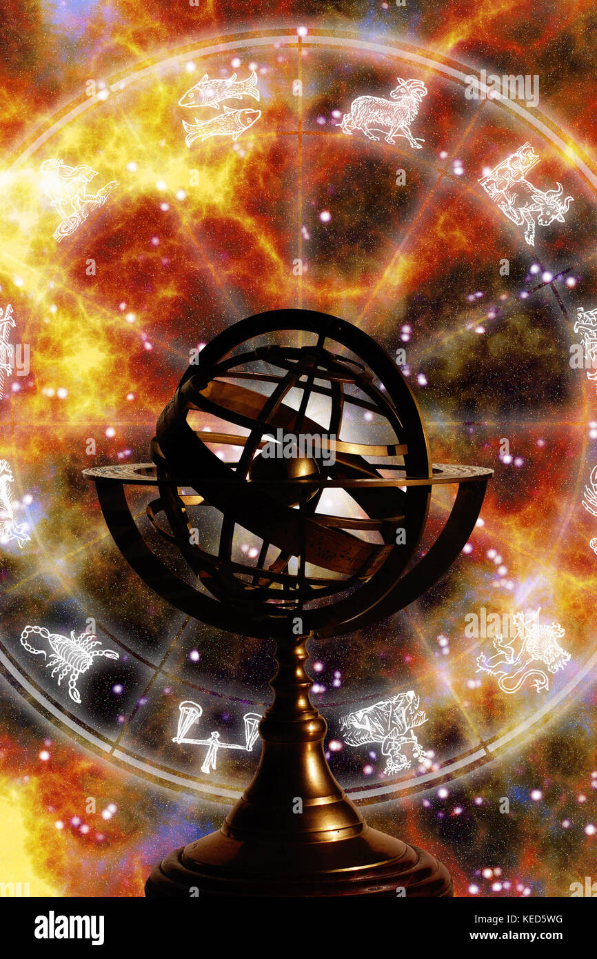 Zodiac chart and astrolabe stock photo royalty free image zodiac chart and astrolabe nvjuhfo Image collections