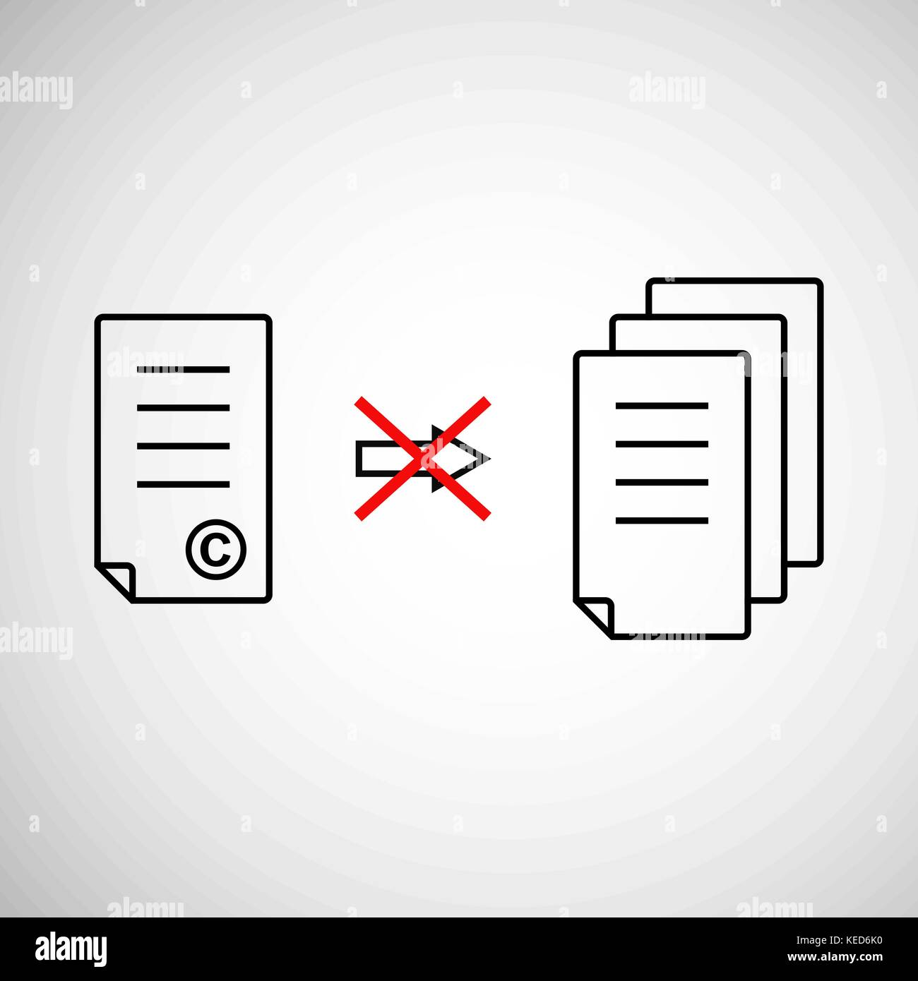 Copyright sign stock photos copyright sign stock images alamy thin line copyright symbol like prohibit copying stock image biocorpaavc Gallery