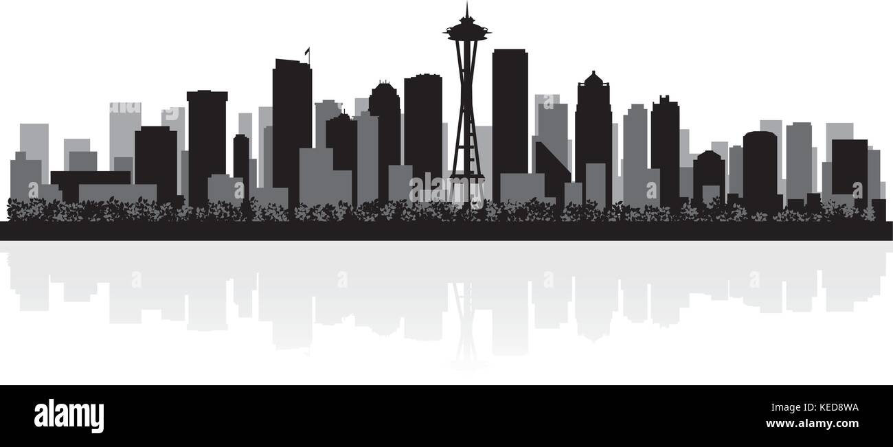 Extraordinary seattle skyline vector photos