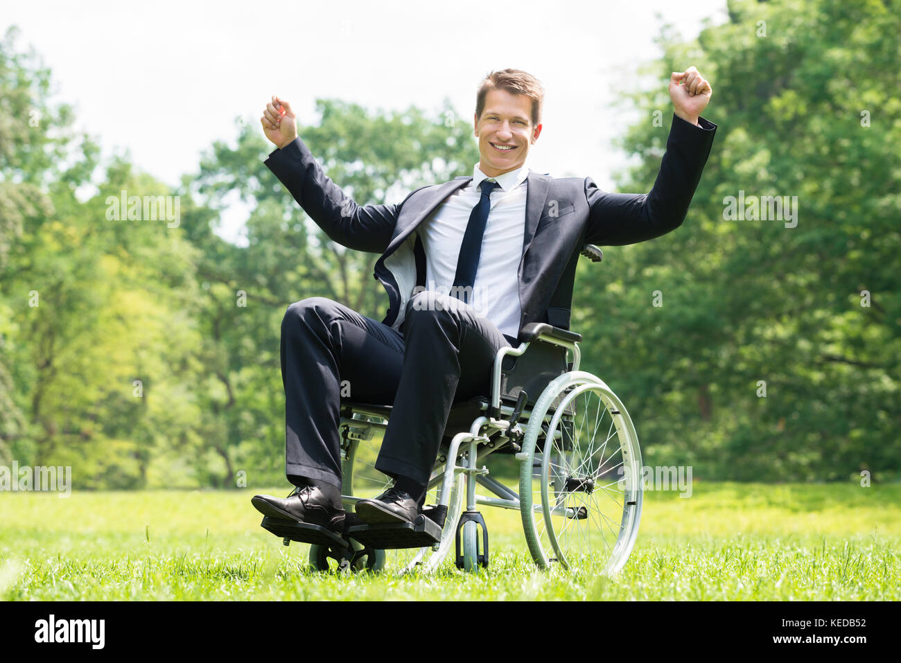 Beautiful Young Disabled Woman In Wheelchair At Home. Stock Photo ...