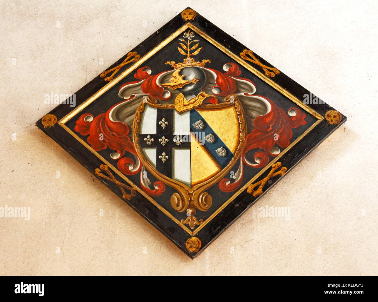 Hatchment stock photos hatchment stock images alamy a hatchment in the nave of the parish church of st peter at ringland norfolk biocorpaavc