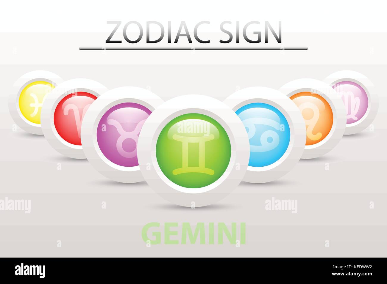 Gemini symbol stock photos gemini symbol stock images alamy horoscope astrology zodiac sign symbol of gemini on sequence with 3d simple white button paper and buycottarizona