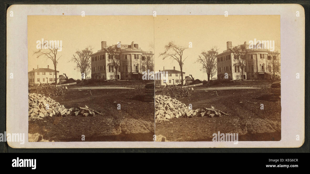 View picture of general henry knox museum montpelier thomaston - Knox Mansion Thomaston Me From Robert N Dennis Collection Of Stereoscopic Views