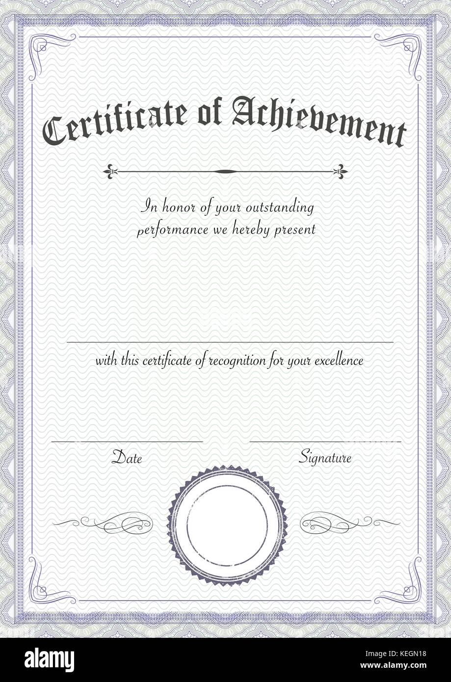 A3 international paper size vertical classic and retro a3 international paper size vertical classic and retro certificate of achievement paper template xflitez Gallery