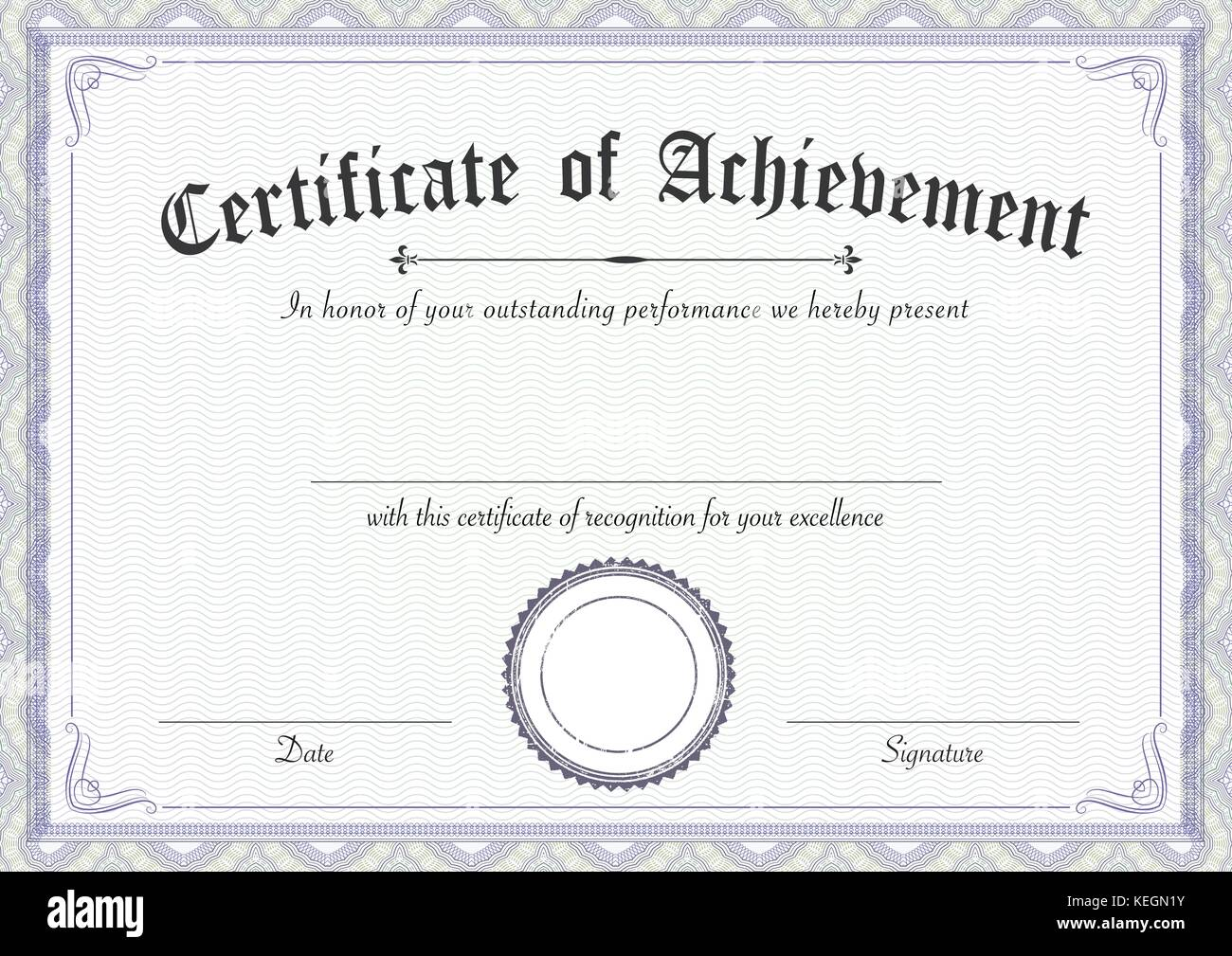 A3 international paper size classic and retro certificate of a3 international paper size classic and retro certificate of achievement paper template its ready to use xflitez Image collections