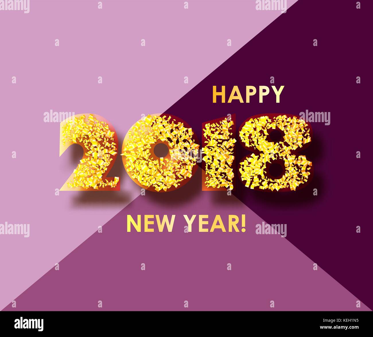 new year 2018 celebration background with confetti