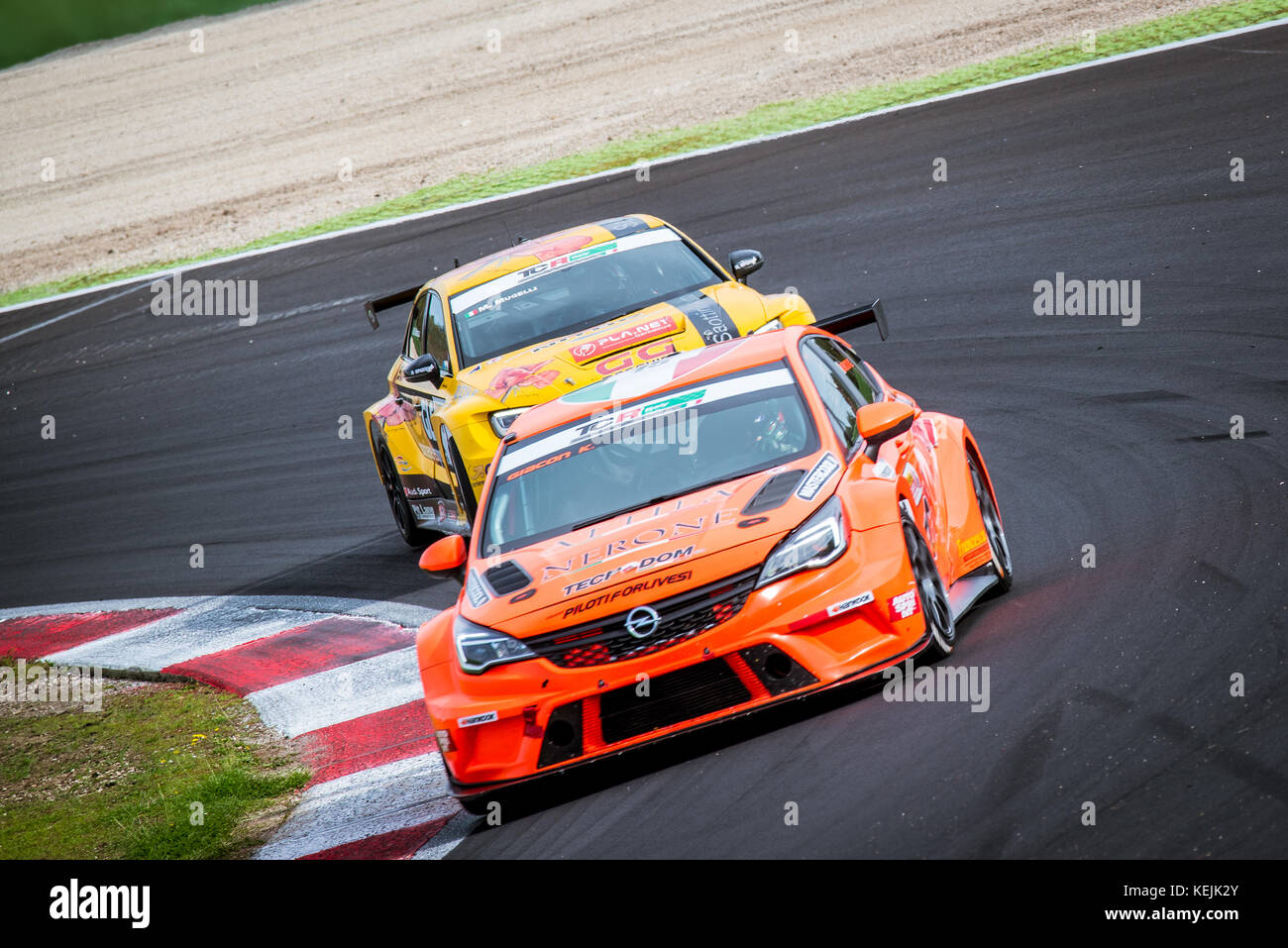 Vallelunga, Italy september 24 2017  Touring Audi rs3 and Opel Astra