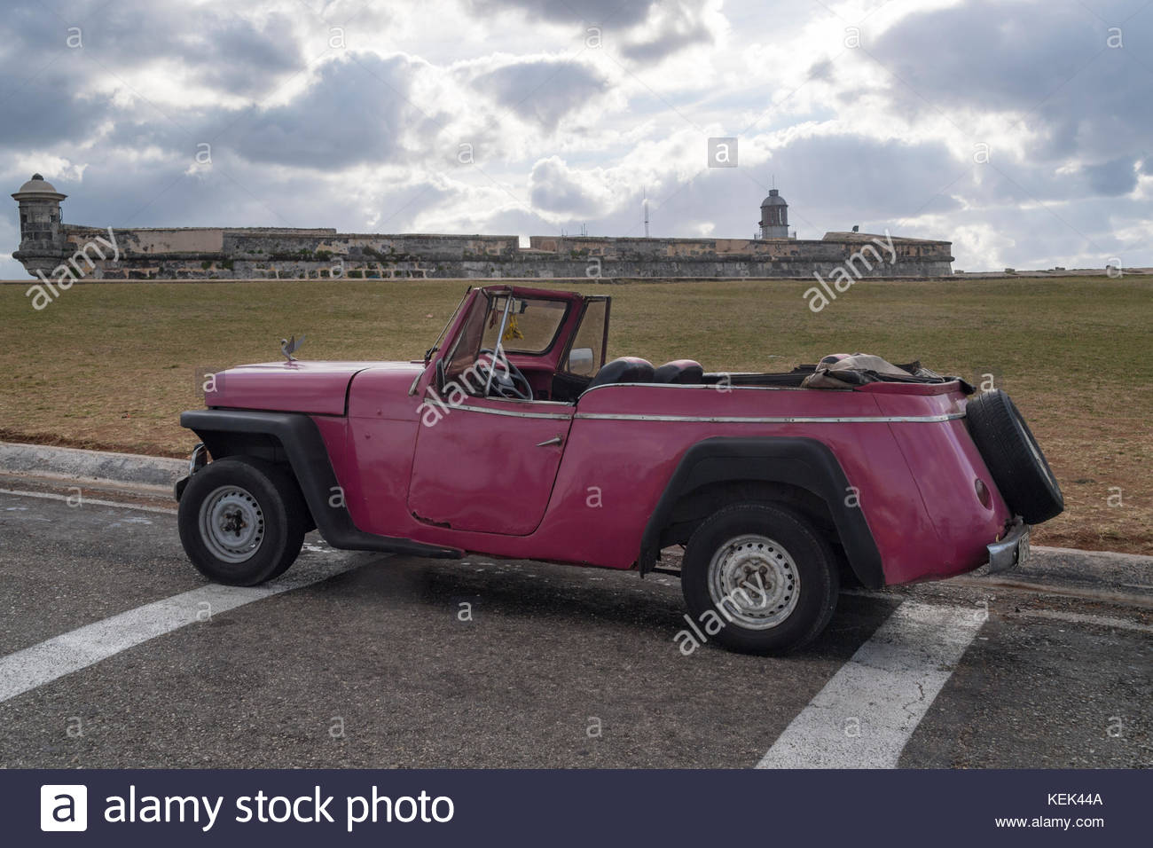 Cuban transportation: Old convertible car in \'El Morro\'. The Stock ...