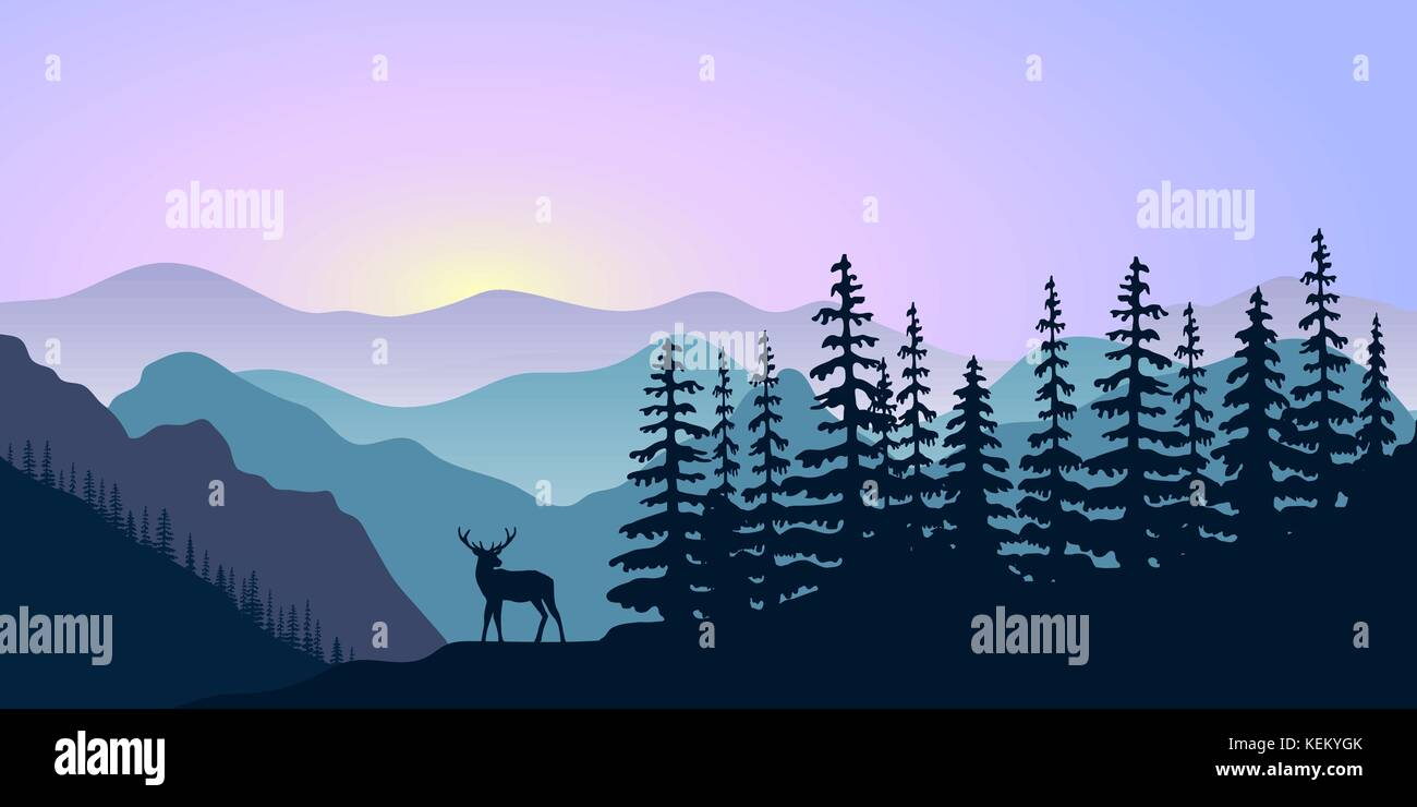 sunset and sunrise stock vector images