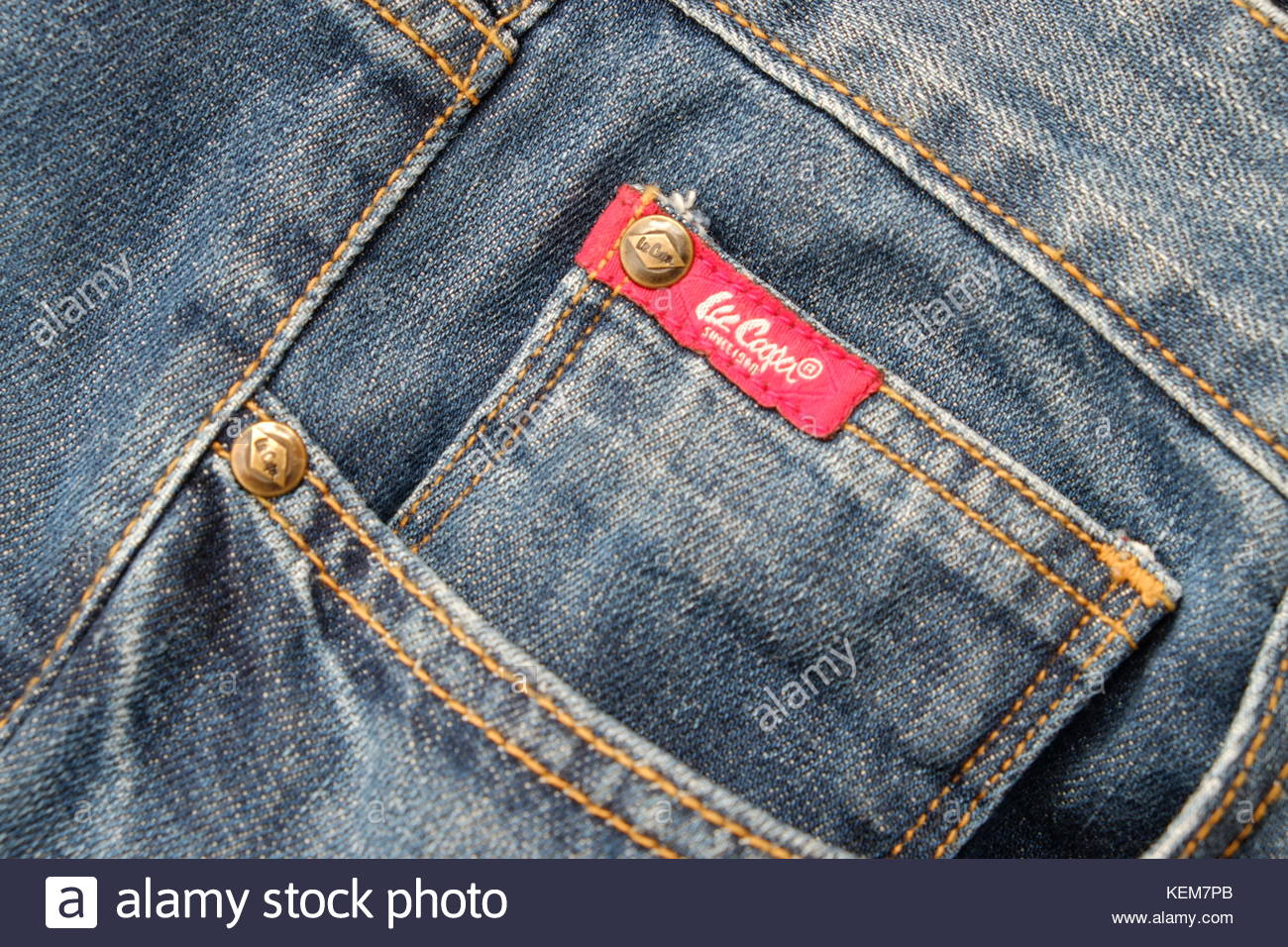 lee cooper jeans red tag stock photo 163943651 alamy