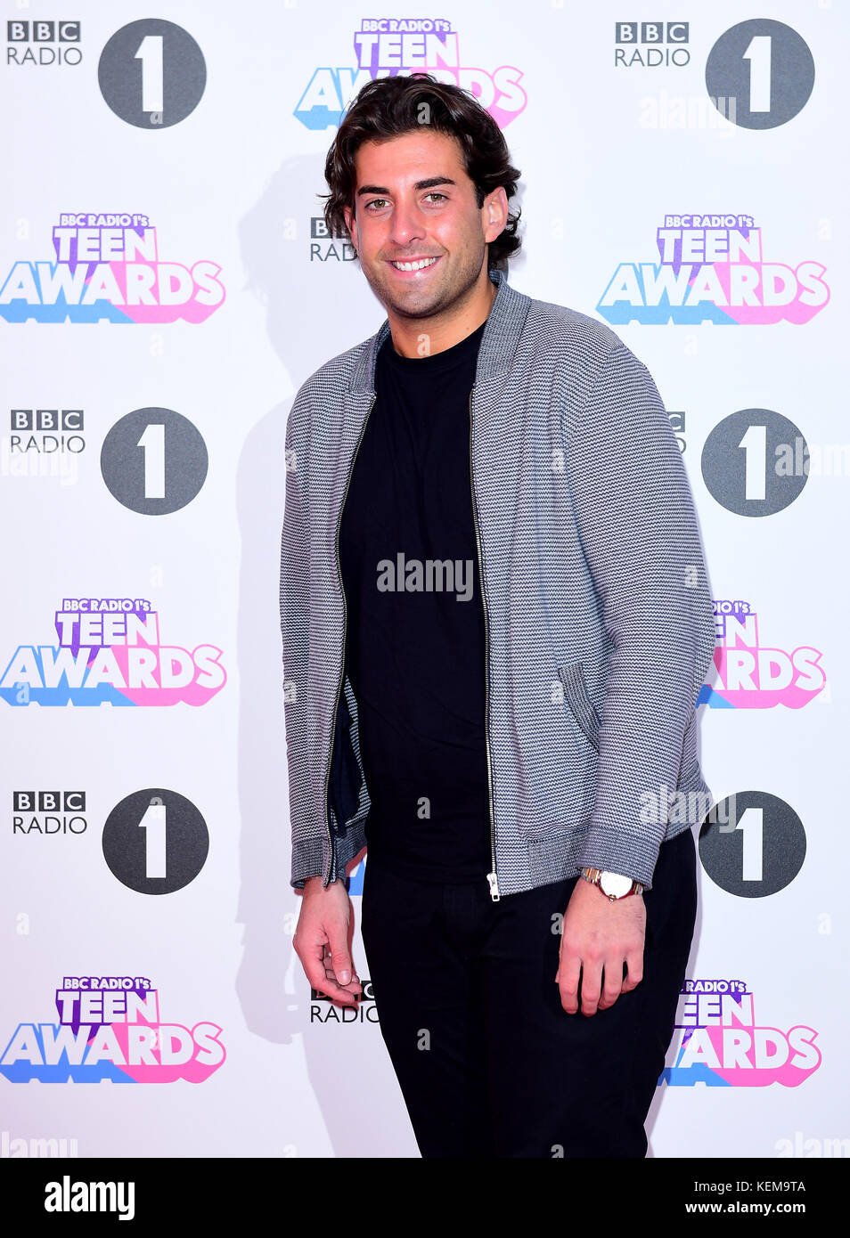 james 'arg' argent attending bbc radio 1's teen awards, at the sse