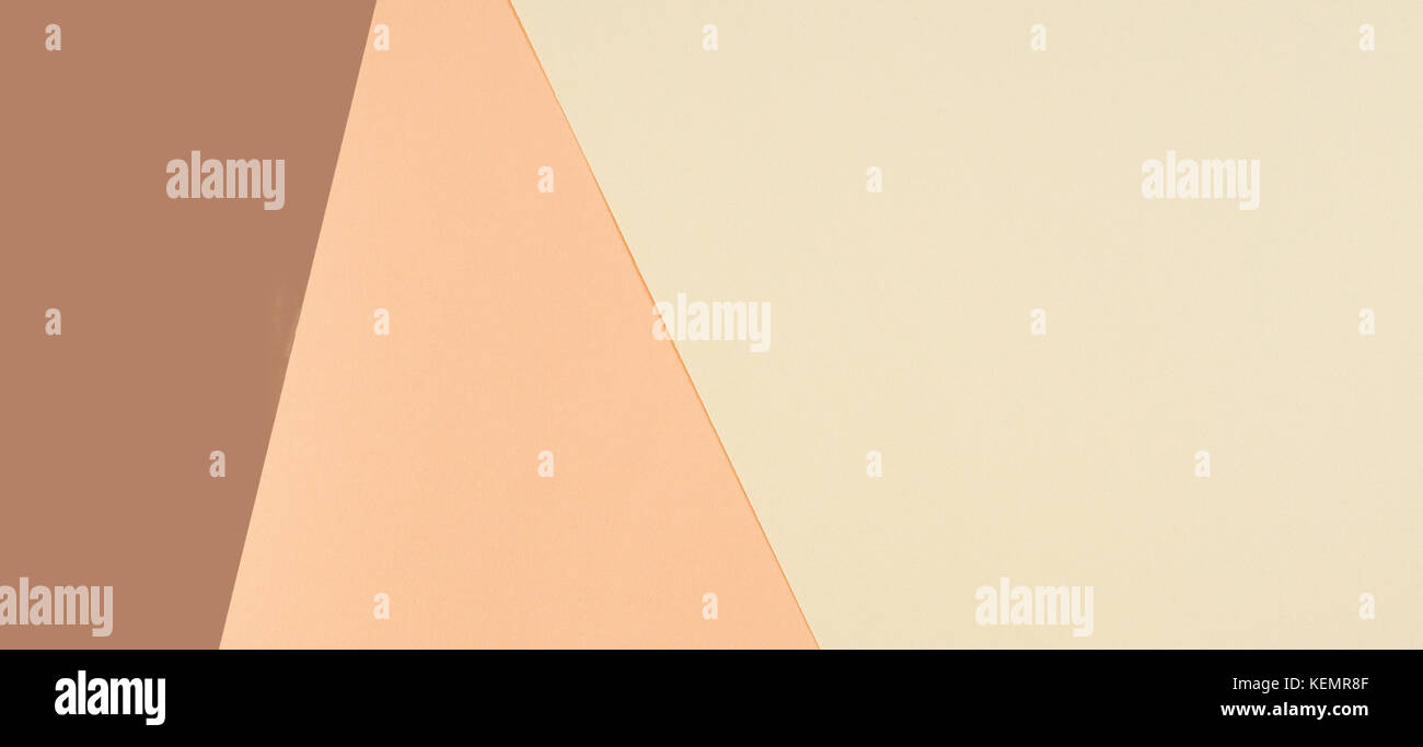 Color papers geometry composition background with pink, beige and ...