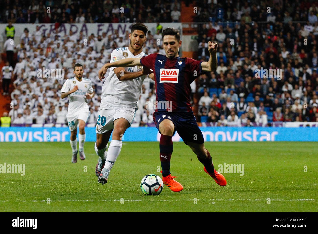 Marco Asensio (20) Real Madrid\'s player. Ander Capa (7) SD Eibar\'s ...