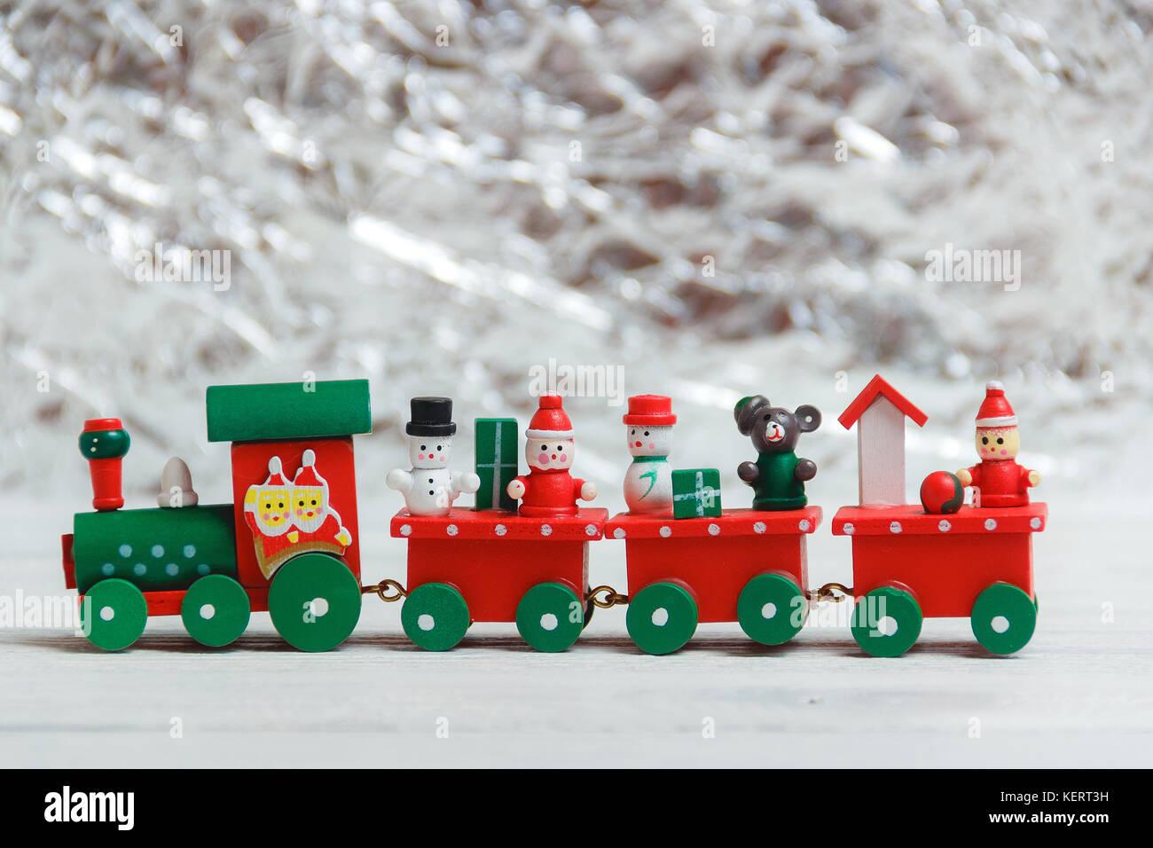 Toy train christmas stock photos