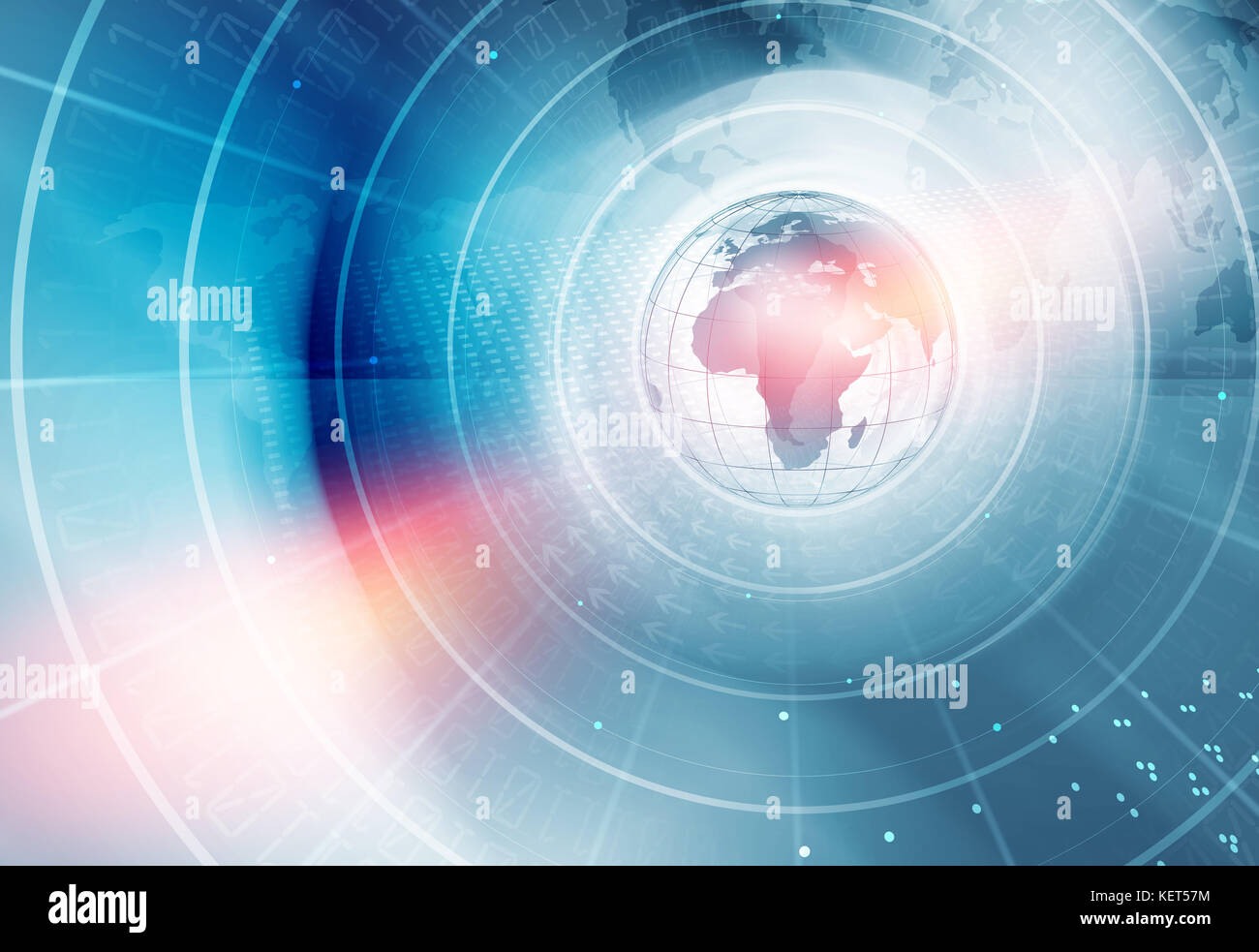 Digital world news background concentric circle around the earth digital world news background concentric circle around the earth globe pooptronica Choice Image