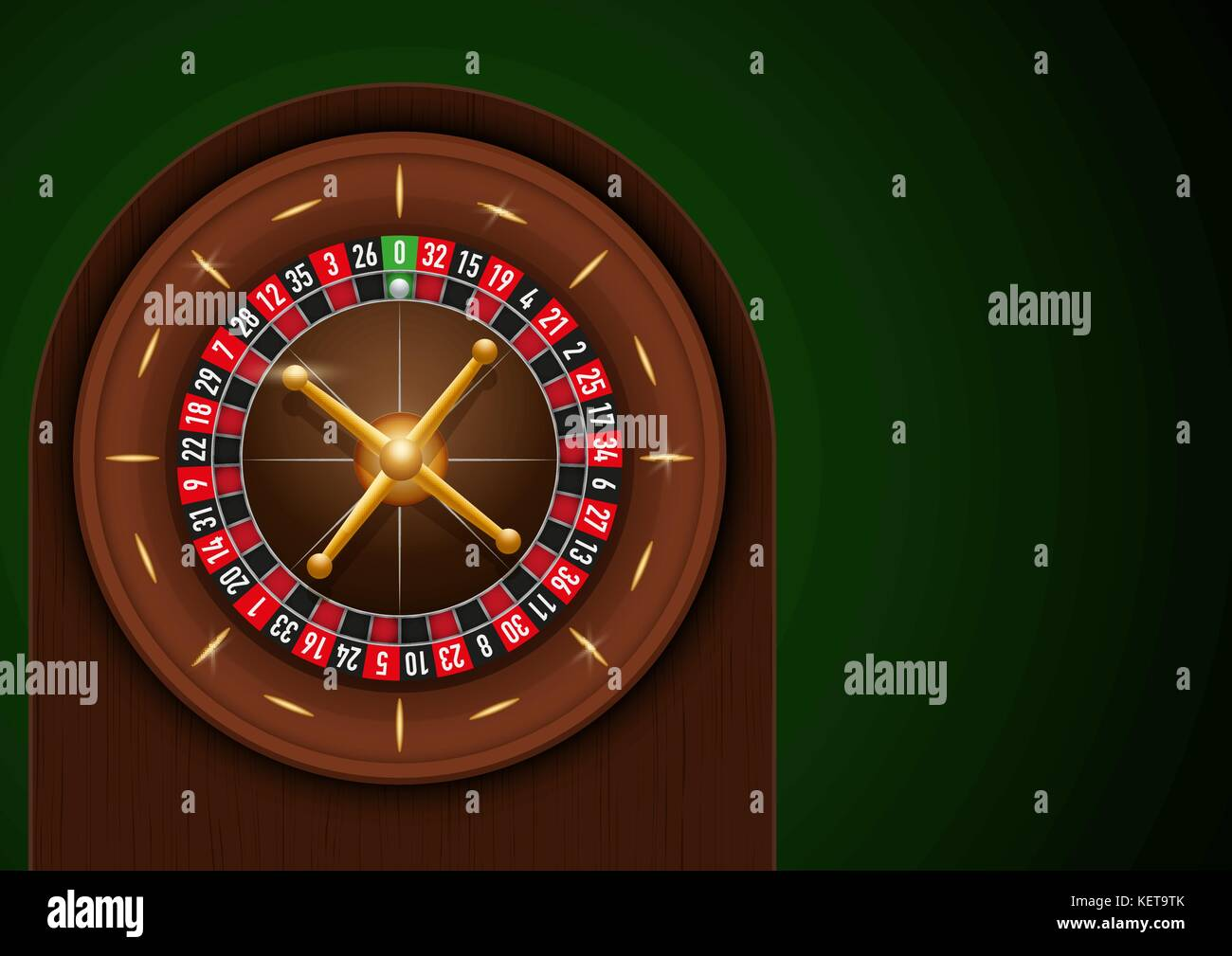 Traditional european roulette table vector illustration stock vector - Casino Roulette On Green Cloth Stock Image