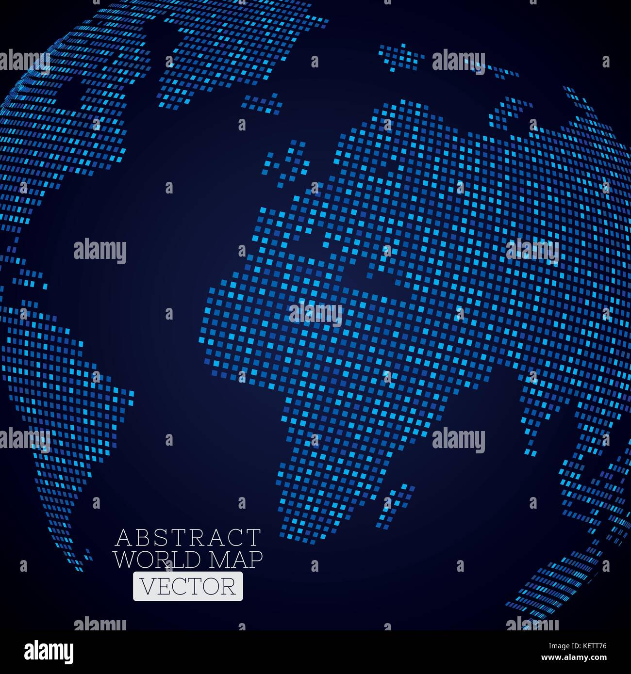 Printpixel dot world map made from blue squares global technology printpixel dot world map made from blue squares global technology concept gumiabroncs Image collections