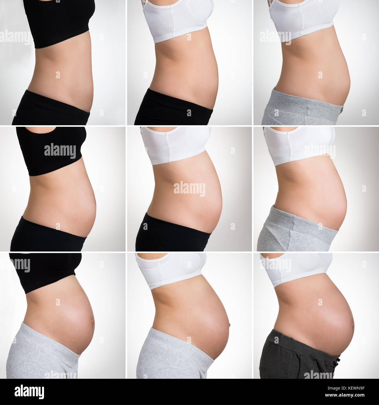 Stages Of Pregnancy Stock Photos & Stages Of Pregnancy