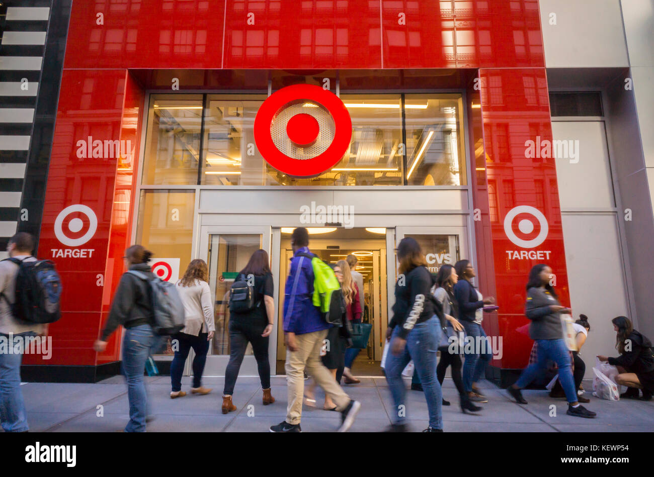 Shoppers Outside A Target Store In Herald Square In New York On Its