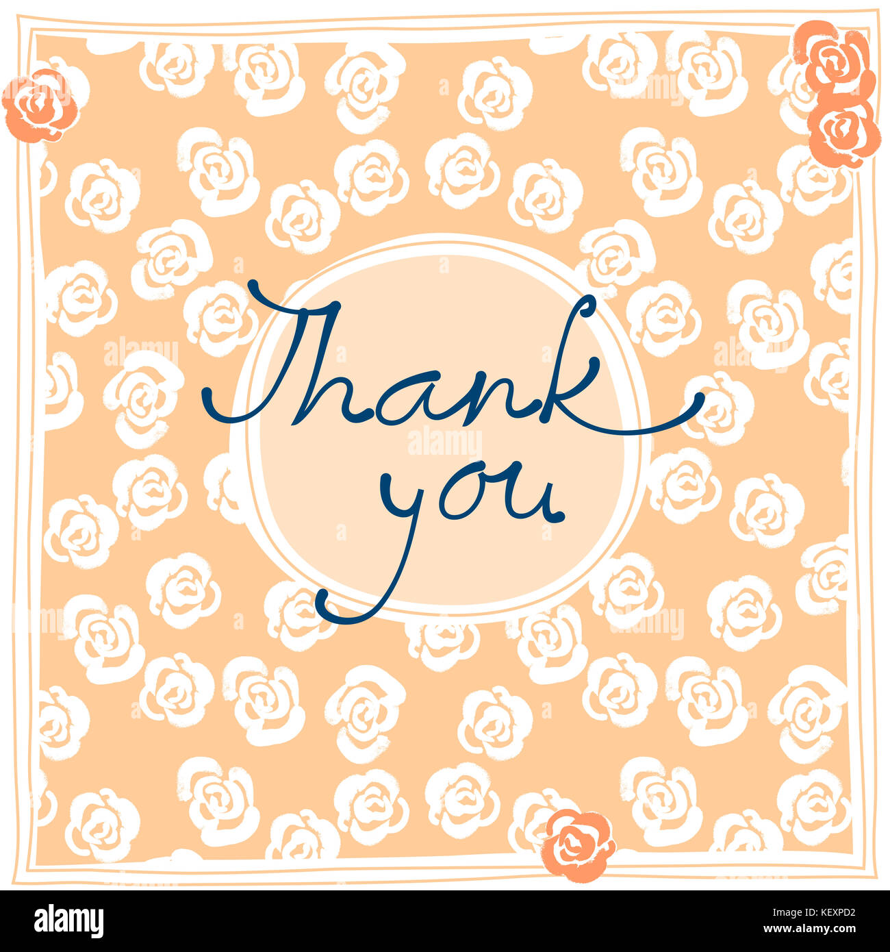 Thank You Card Design Template Simple Greeting Card Elegant Note