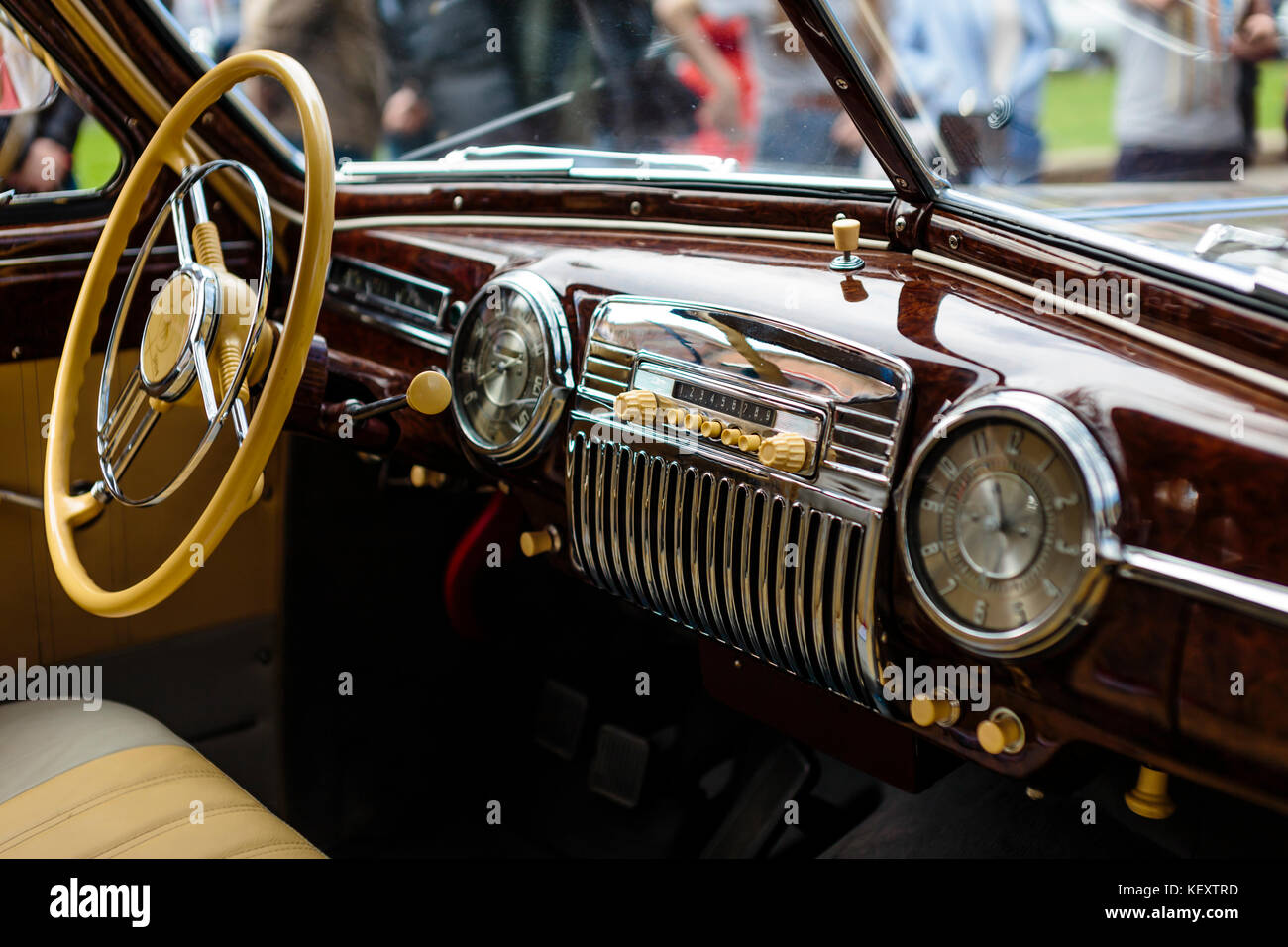 Photograph Of Vintage Car Interior St Petersburg Russia Stock