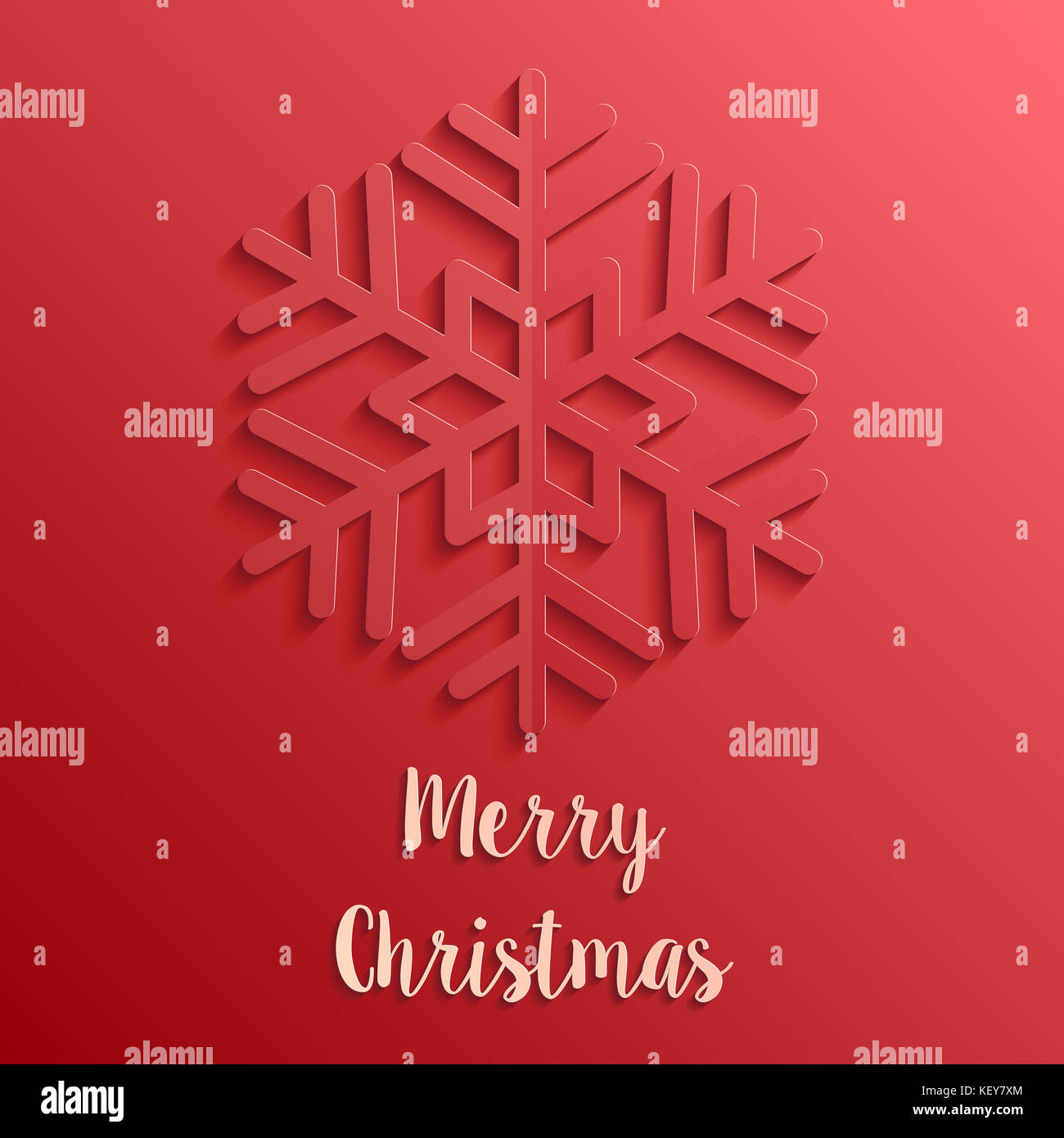 red paper cut style merry christmas card Stock Photo: 164097436 - Alamy