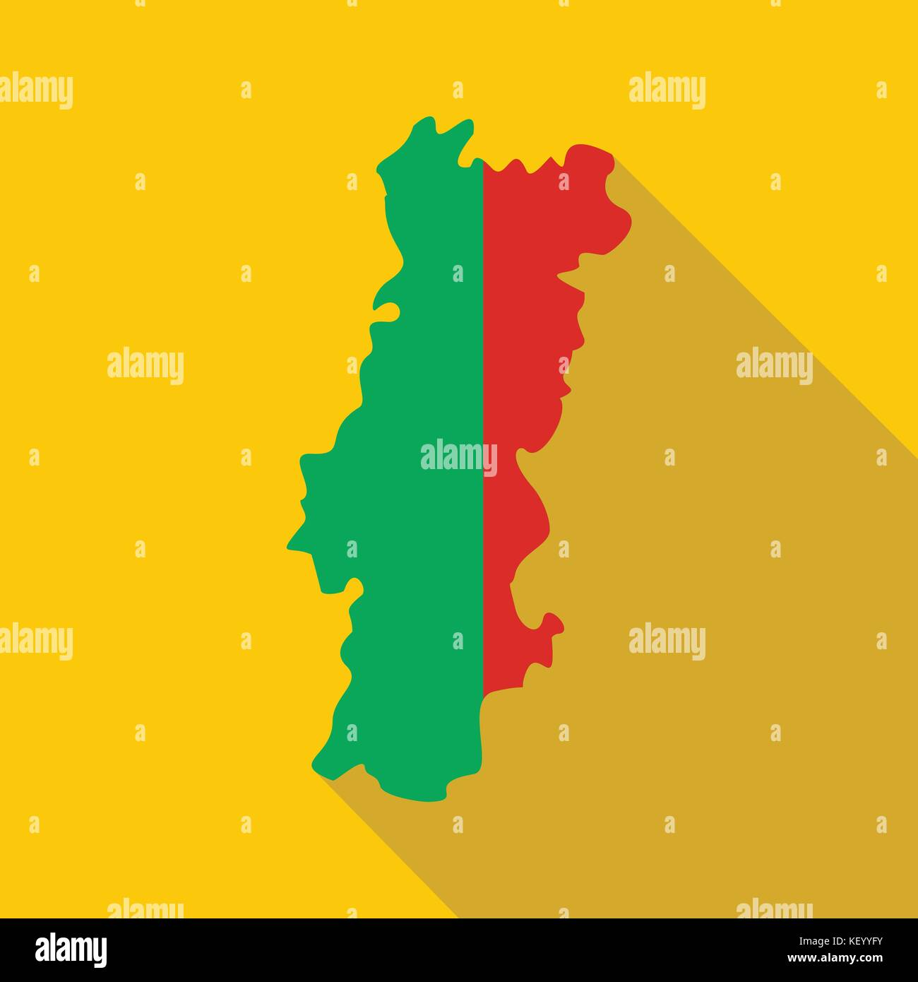 Portugal Map Stock Photos Portugal Map Stock Images Alamy - Portugal map icon
