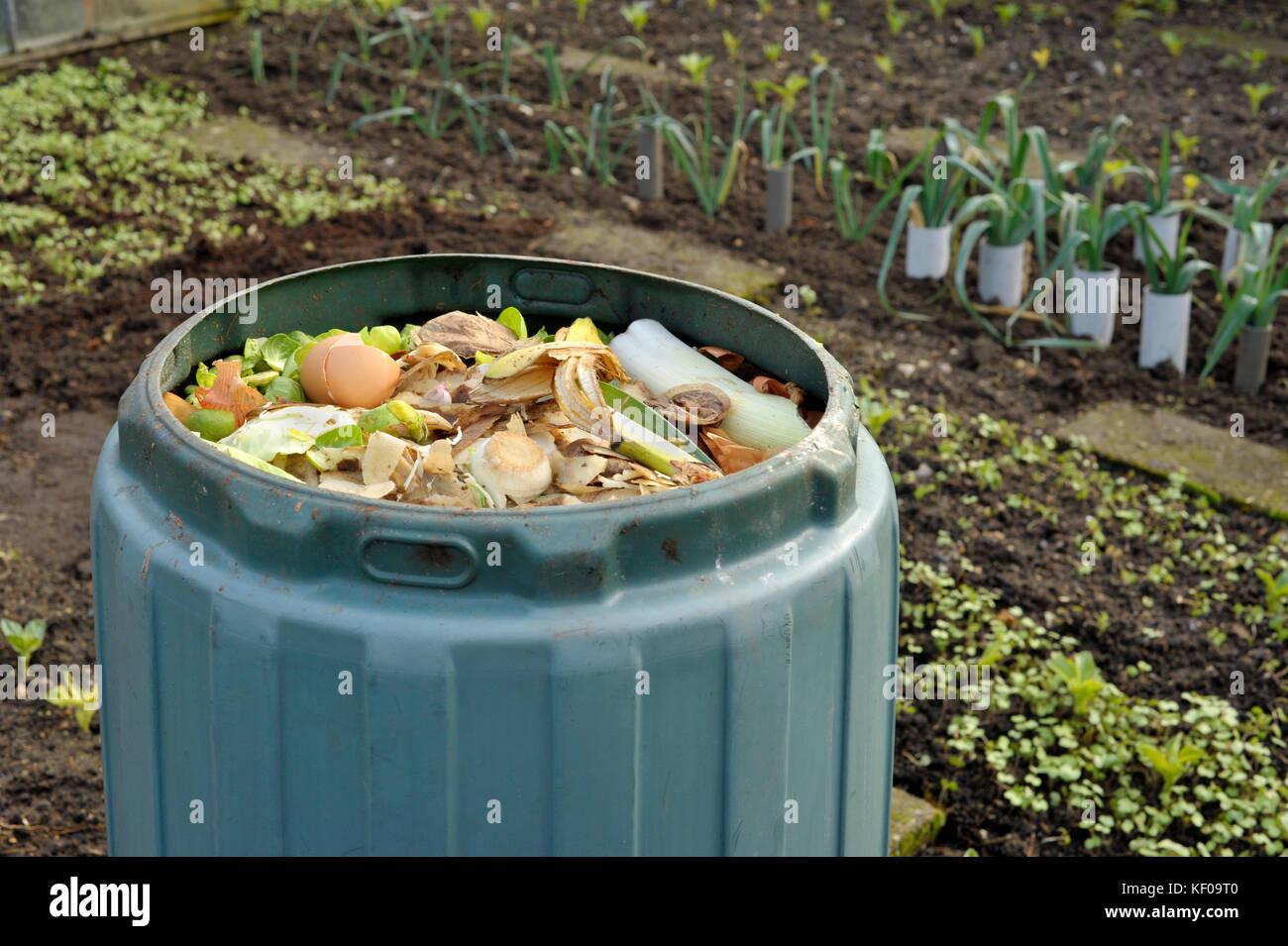 Compost Heap Vegetables Kitchen Waste Stock Photos