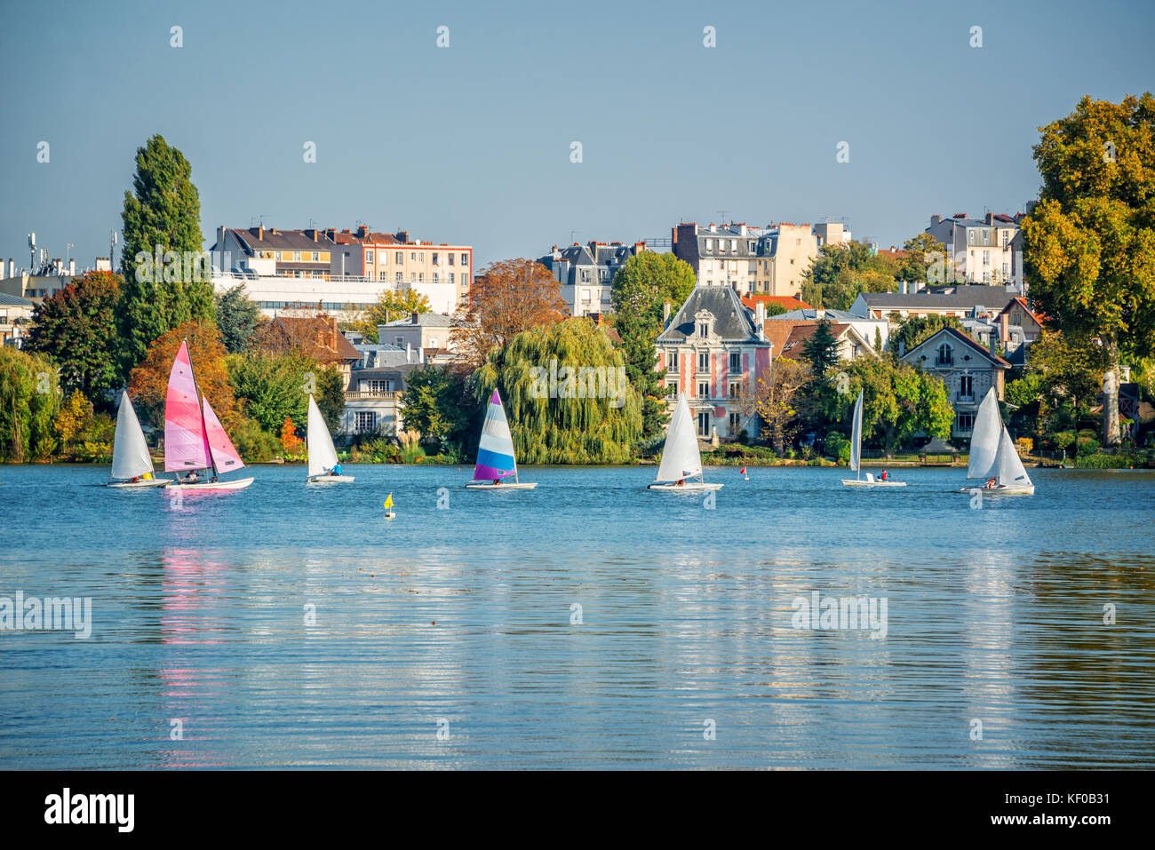 Vintage sailing holiday stock photos vintage sailing for Enghien les bains