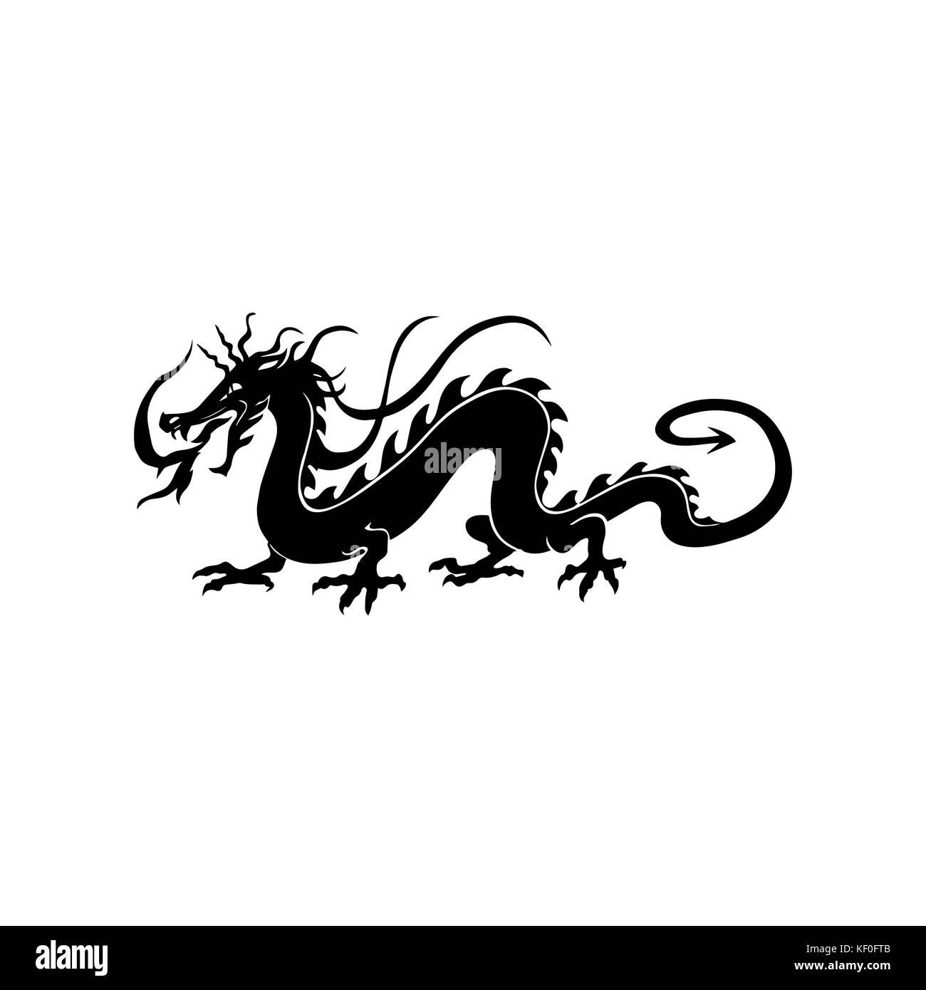 Tribal dragon tattoo stock photos tribal dragon tattoo stock chinese dragon tattoo stock image buycottarizona