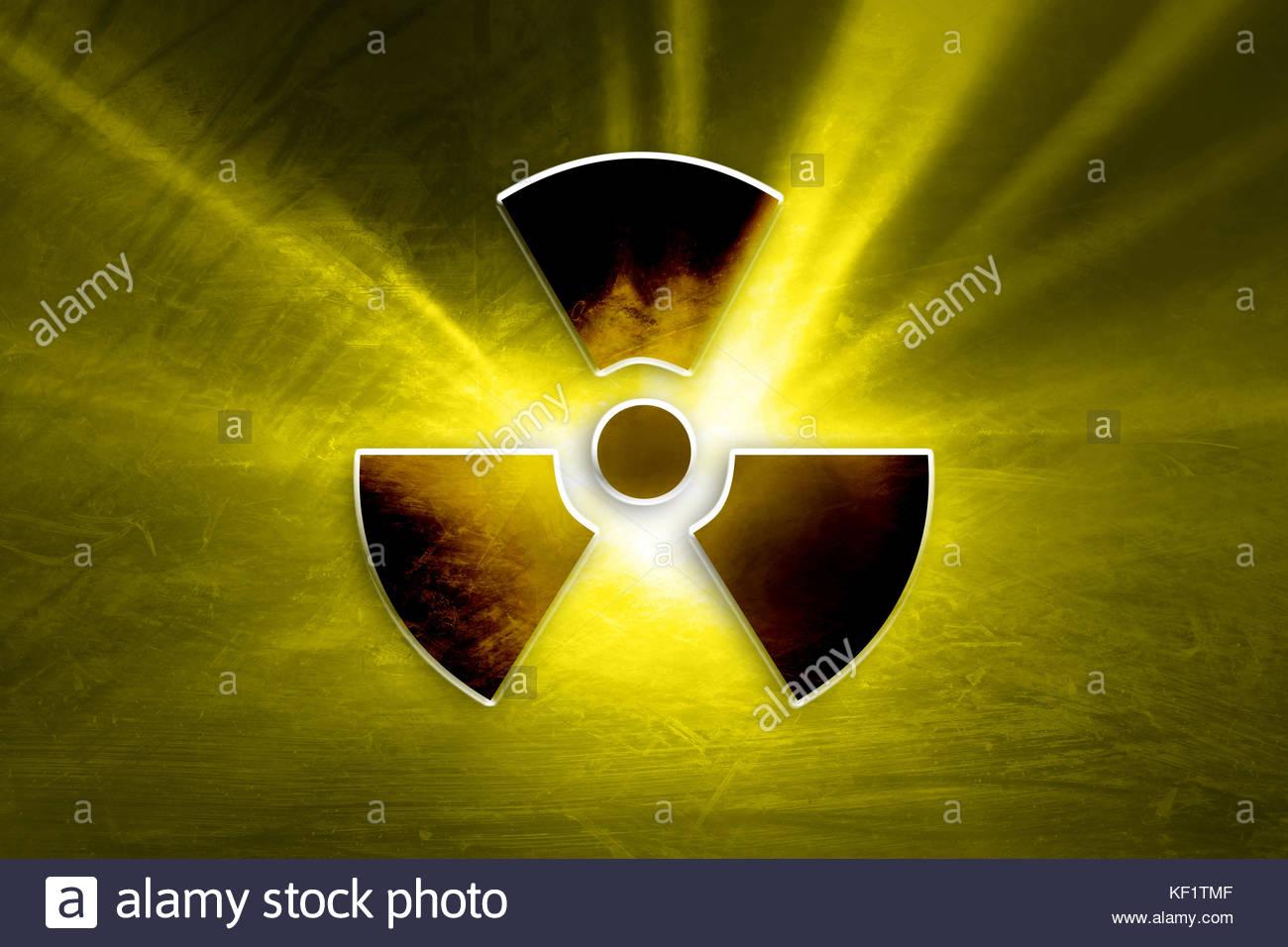 Conceptual dark grunge radioactive symbol on the textured yellow conceptual dark grunge radioactive symbol on the textured yellow colored illustration background buycottarizona