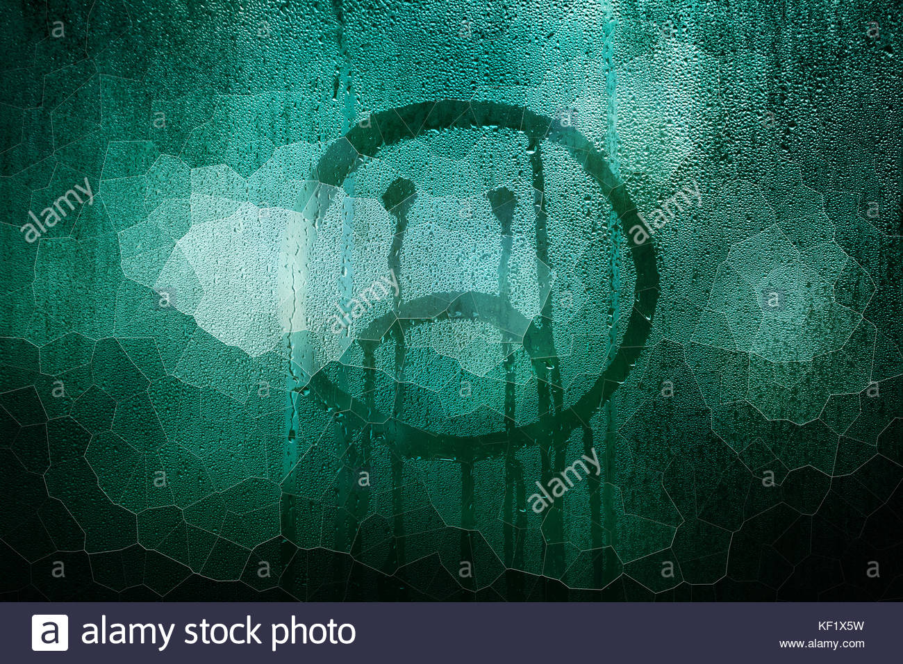 Sad upside down smiley hand drawn symbol on wet broken glass stock sad upside down smiley hand drawn symbol on wet broken glass background buycottarizona