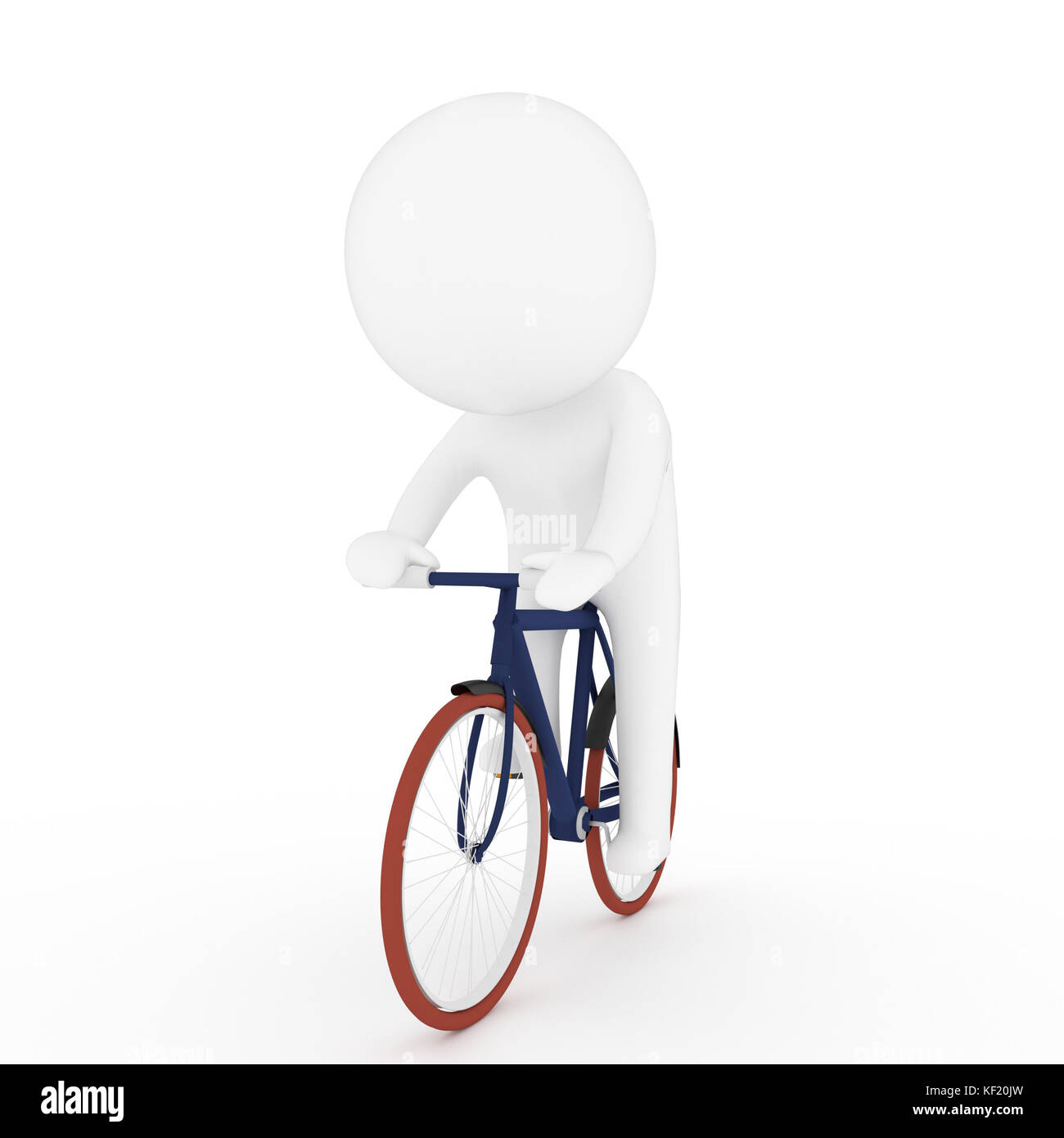 watch dc7ea 1c1d3 white human riding bicycle in 3D rendering Stock Photo ...