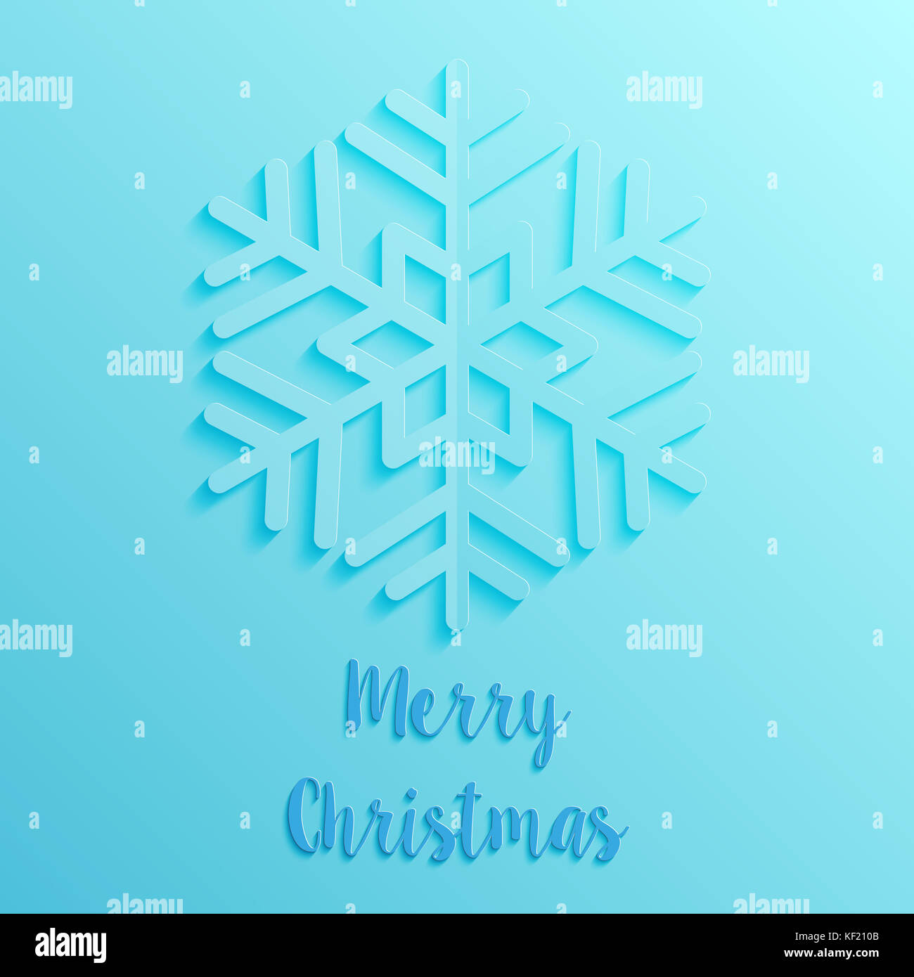 blue paper cut style merry christmas card Stock Photo: 164157851 - Alamy